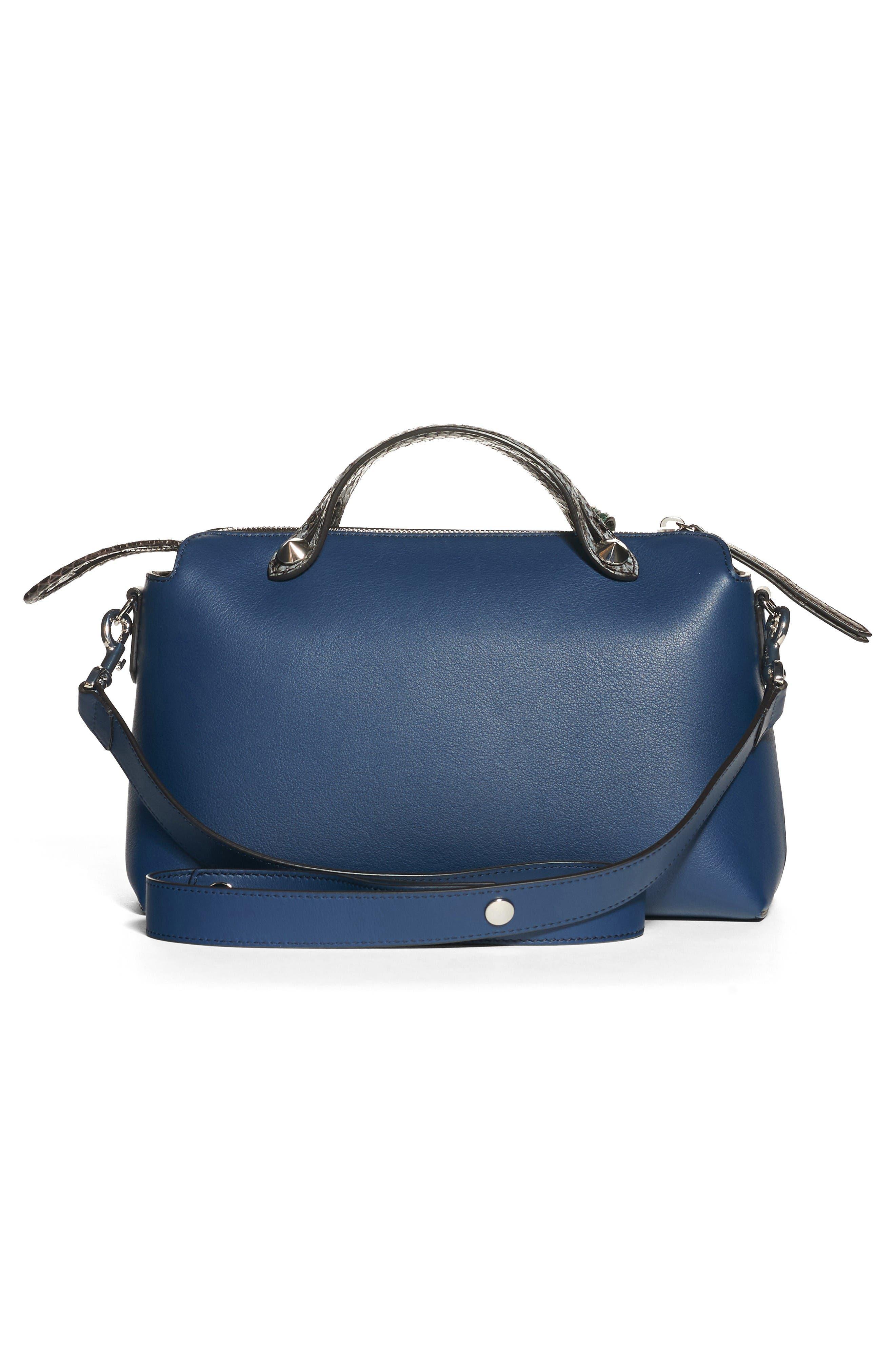 Alternate Image 2  - Fendi 'Medium By the Way' Calfskin Leather Shoulder Bag with Genuine Snakeskin Trim