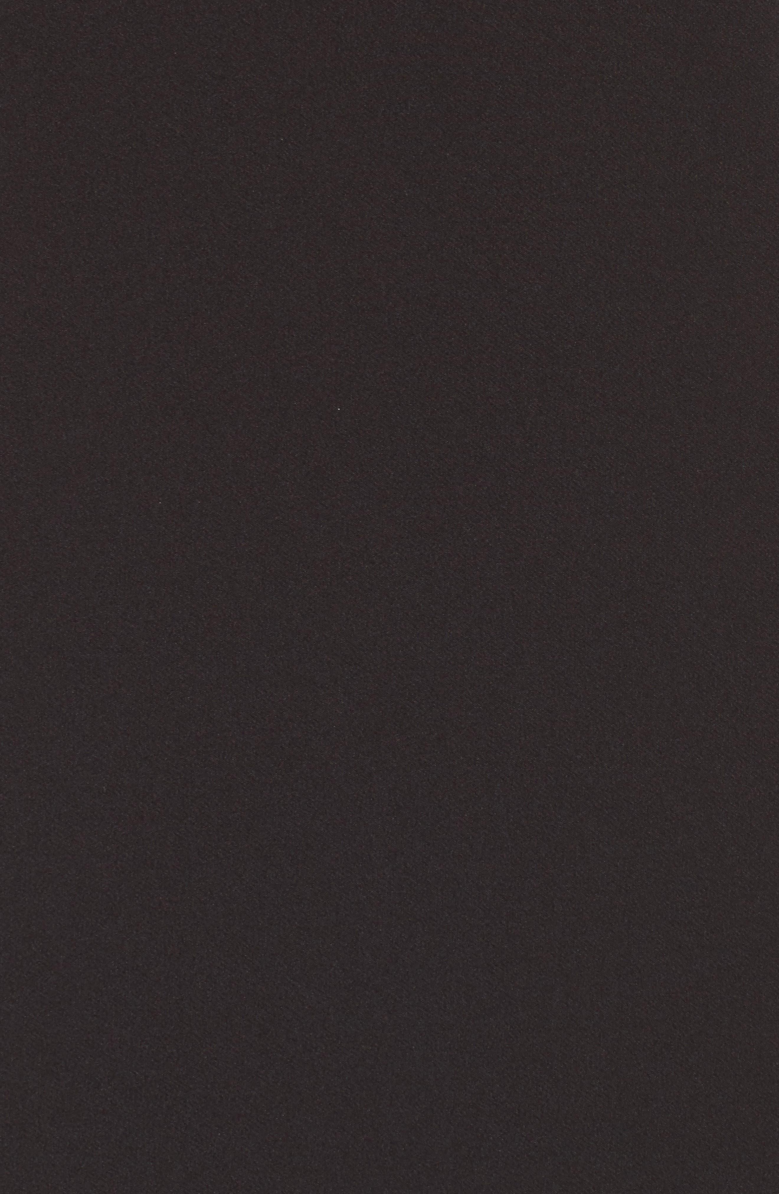 Shannon Lace Inset Gown,                             Alternate thumbnail 5, color,                             Black