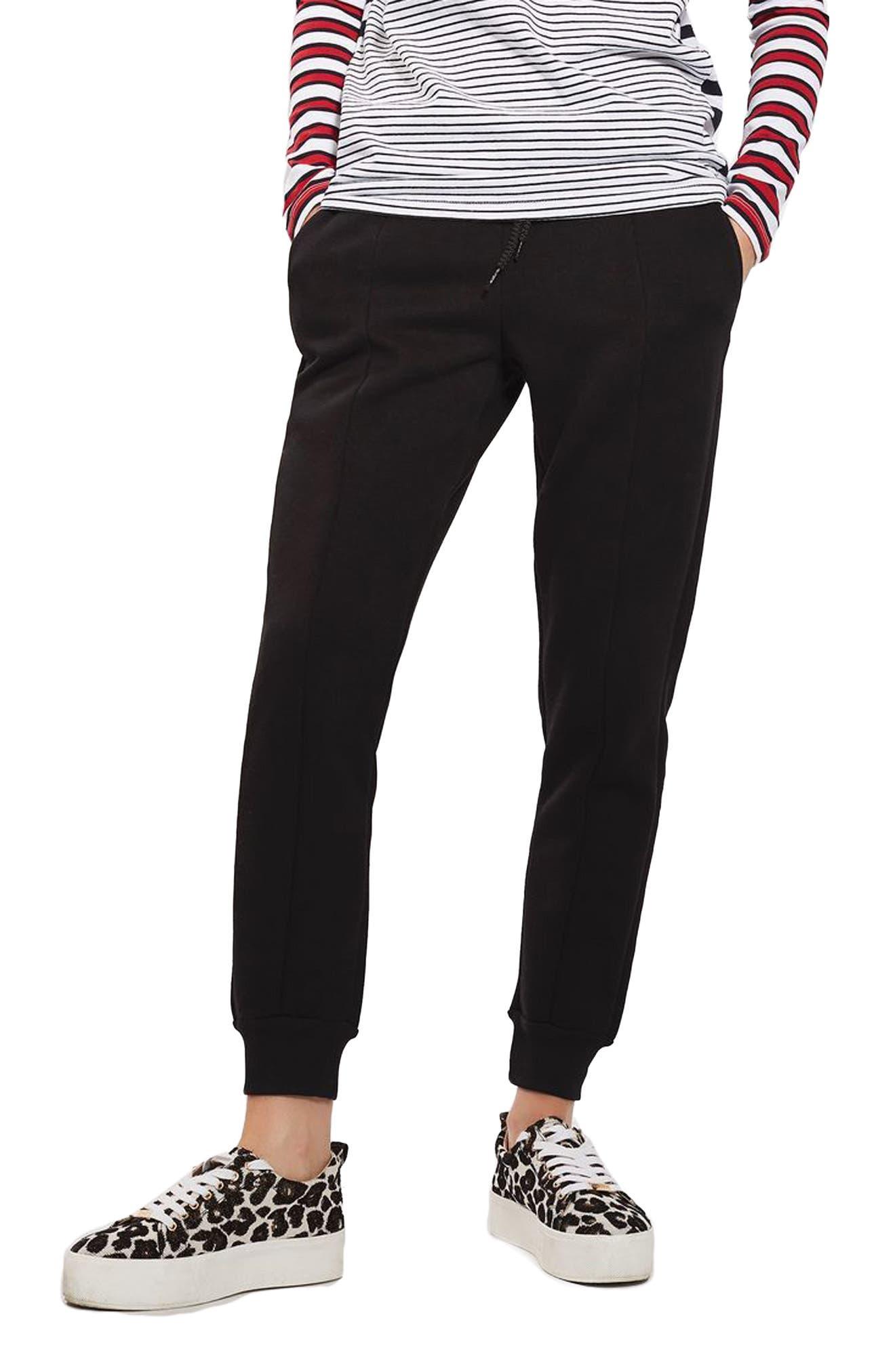 Clean Seam Jogger Pants,                             Main thumbnail 1, color,                             Black