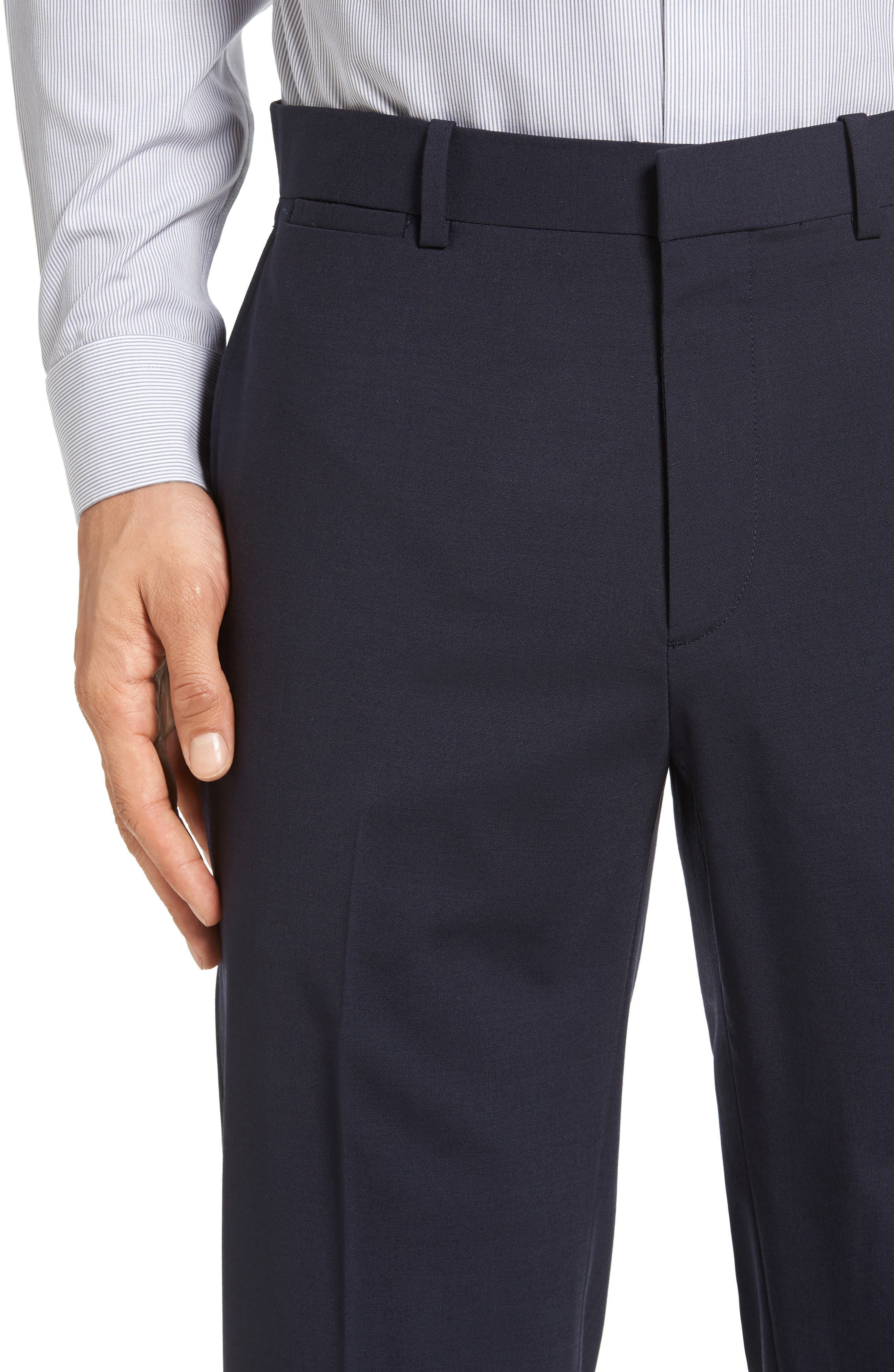 Alternate Image 4  - Theory Marlo New Tailor 2 Flat Front Solid Stretch Wool Trousers