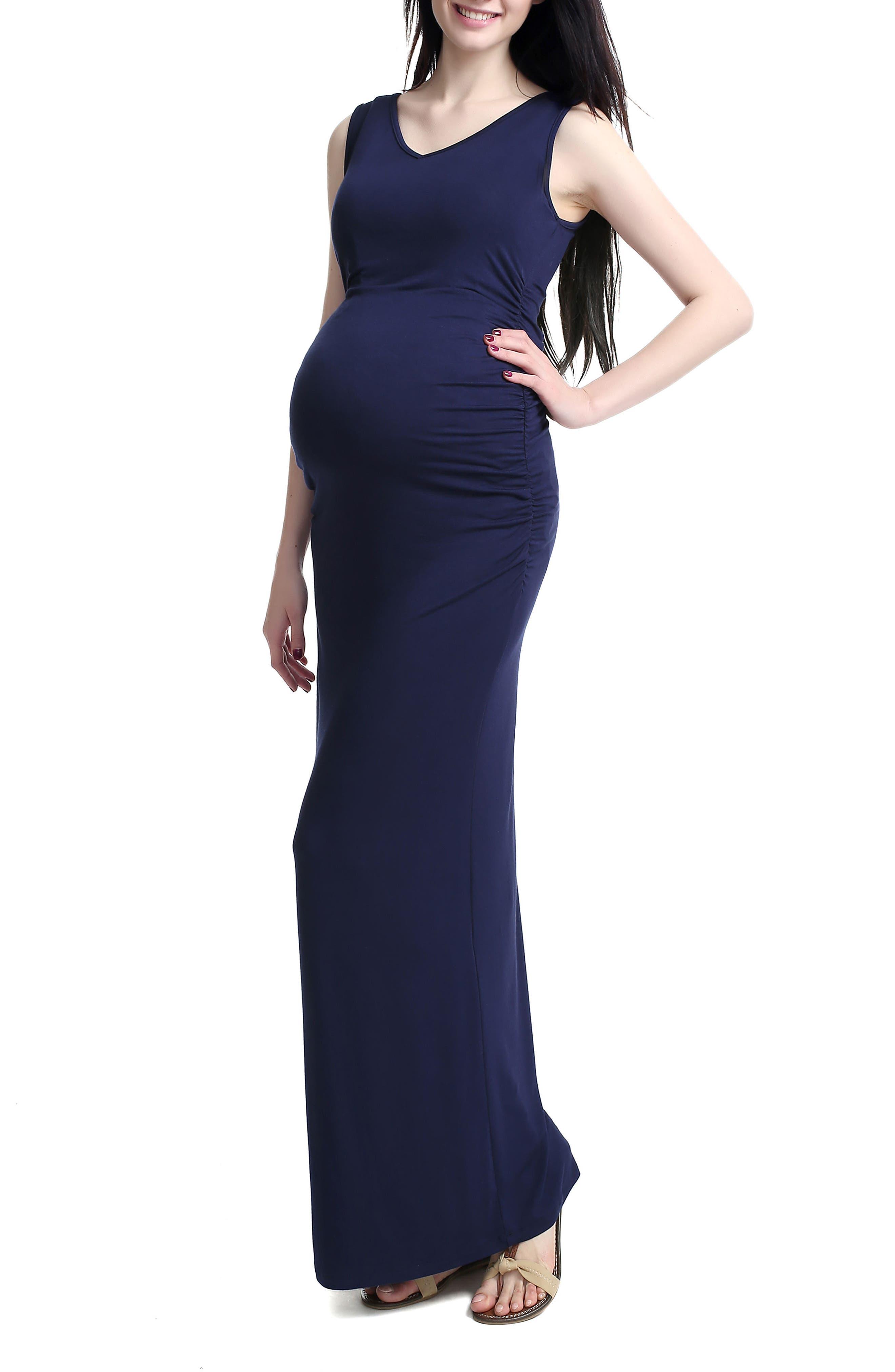 Alternate Image 3  - Kimi and Kai 'Jane' V-Neck Maternity Maxi Dress