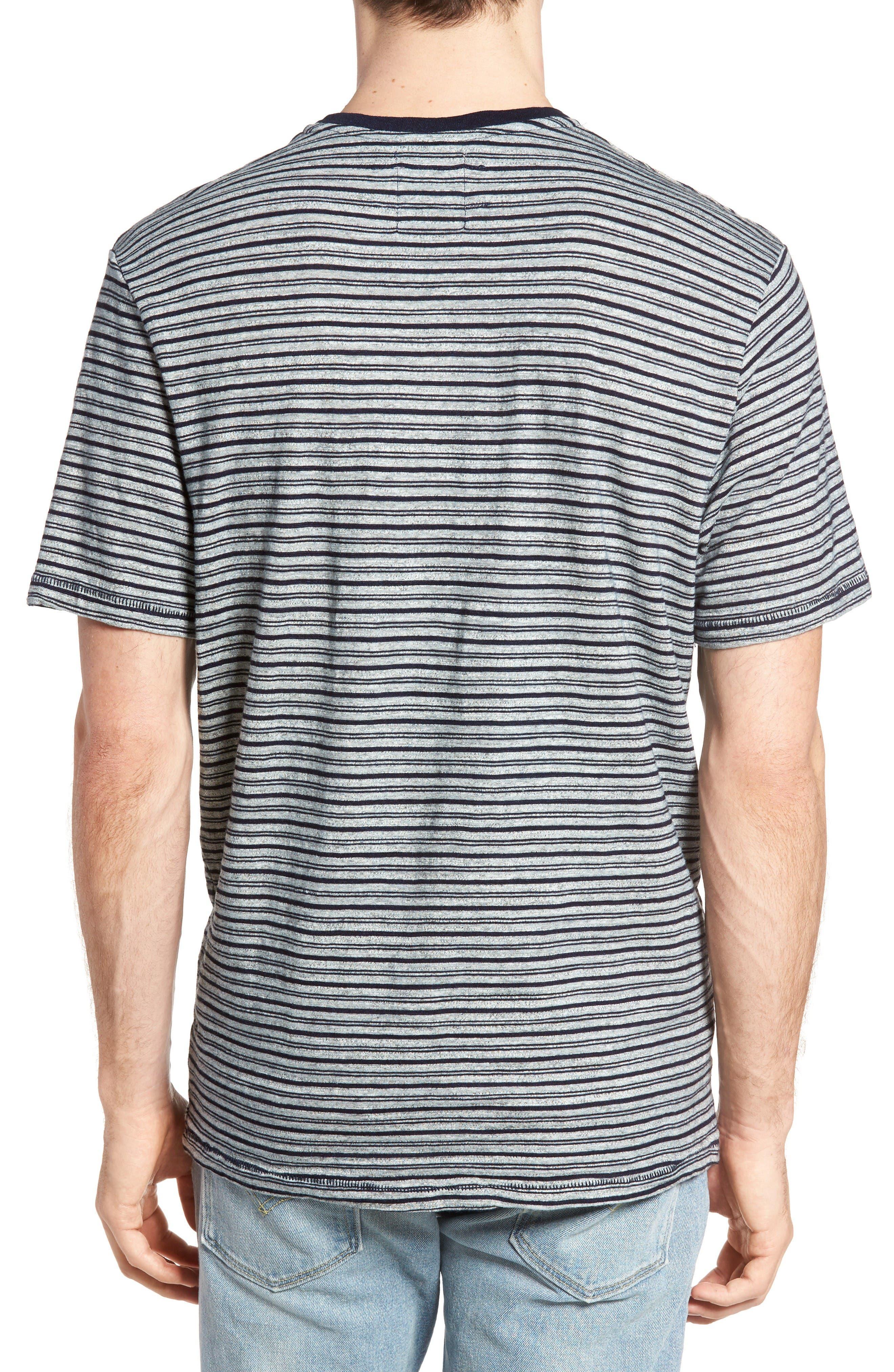 Stripe Ringer T-Shirt,                             Alternate thumbnail 2, color,                             Indigo