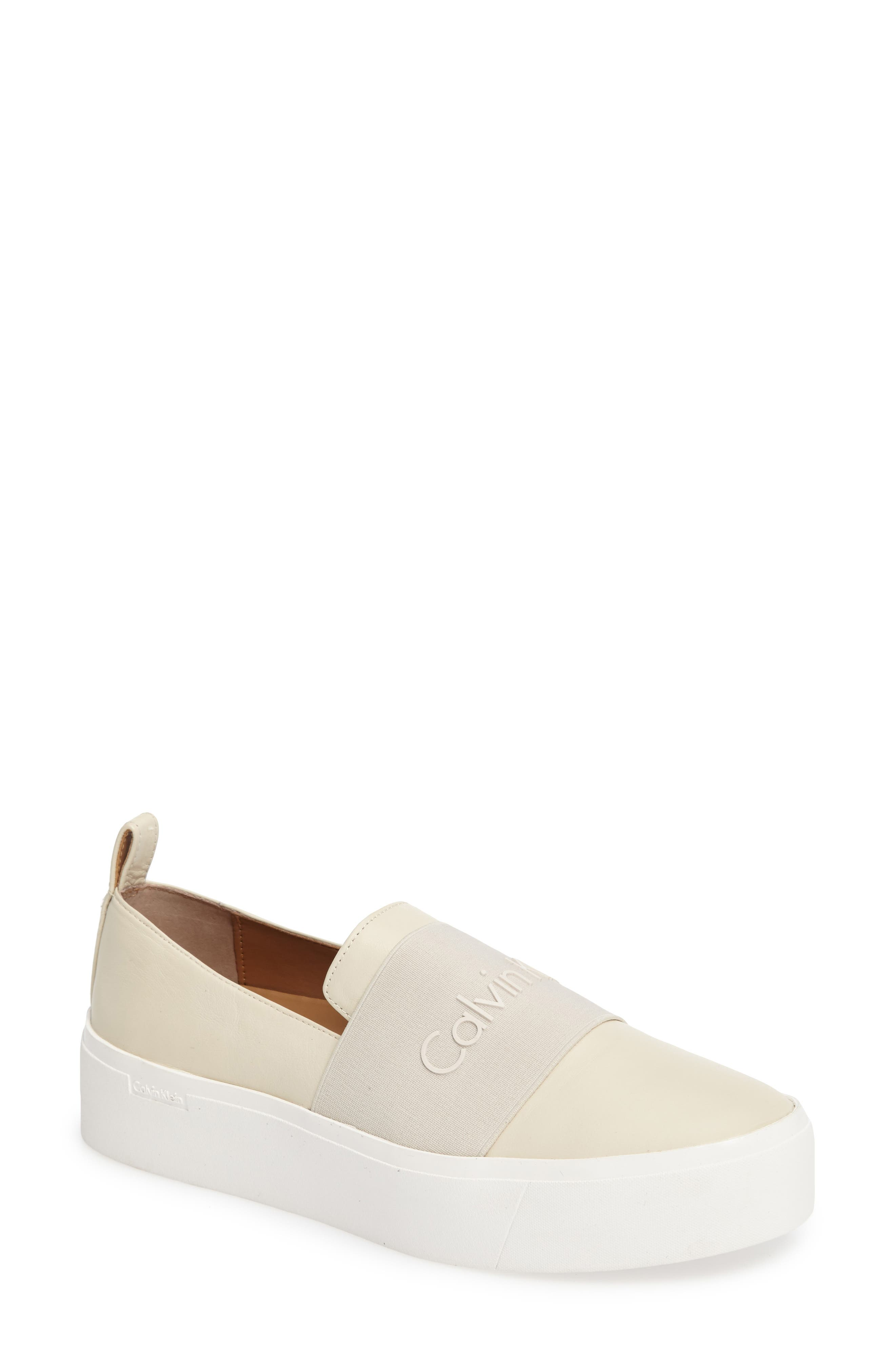 Jacinta Platform Sneaker,                             Main thumbnail 1, color,                             Soft White Leather