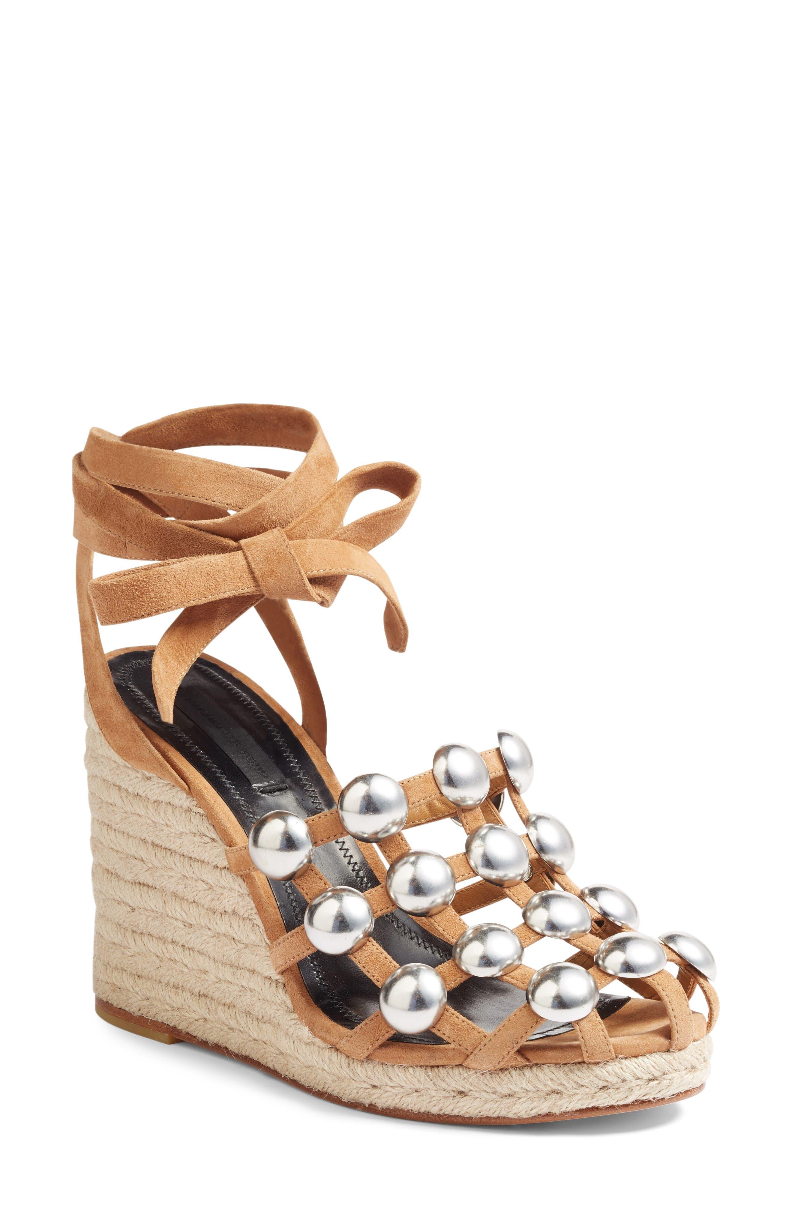 Alternate Image 1 Selected - Alexander Wang Taylor Stud Wedge Sandal (Women)