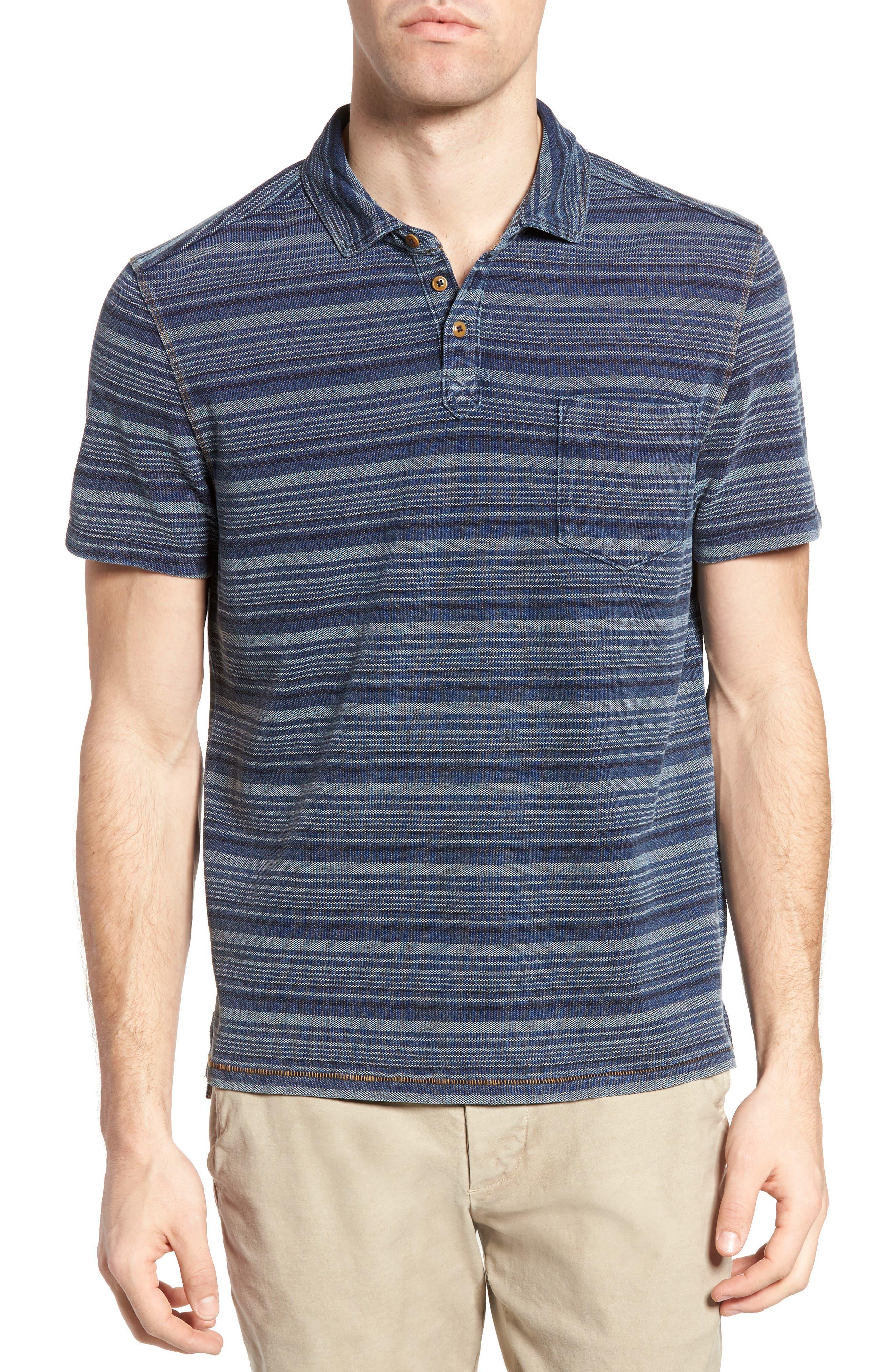 Jeremiah Hopkins Stripe Jersey Piqué Polo