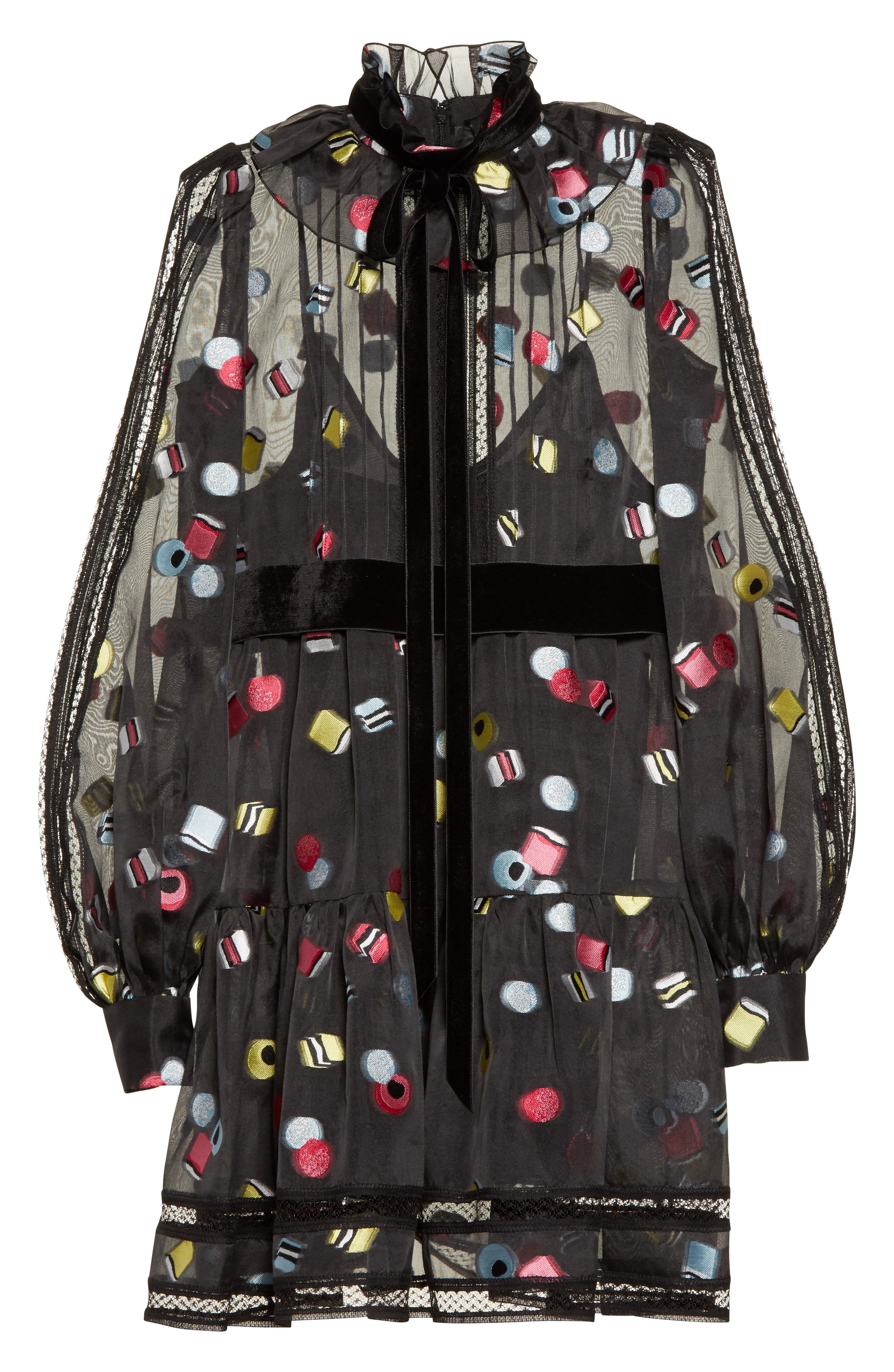 Alternate Image 4  - MARC JACOBS Licorice Fil Coupé Balloon Sleeve Dress (Nordstrom Exclusive)