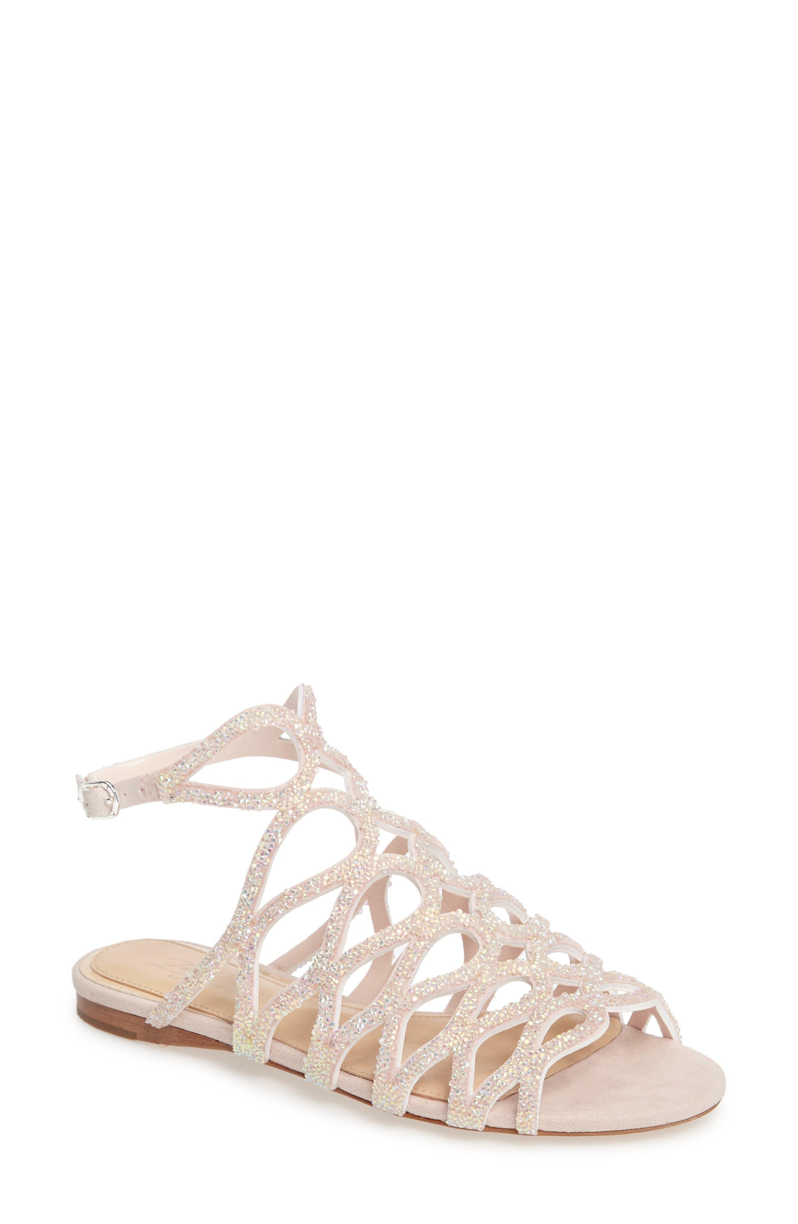 Ralee Glitter Sandal,                         Main,                         color, Iridescent Pink Satin