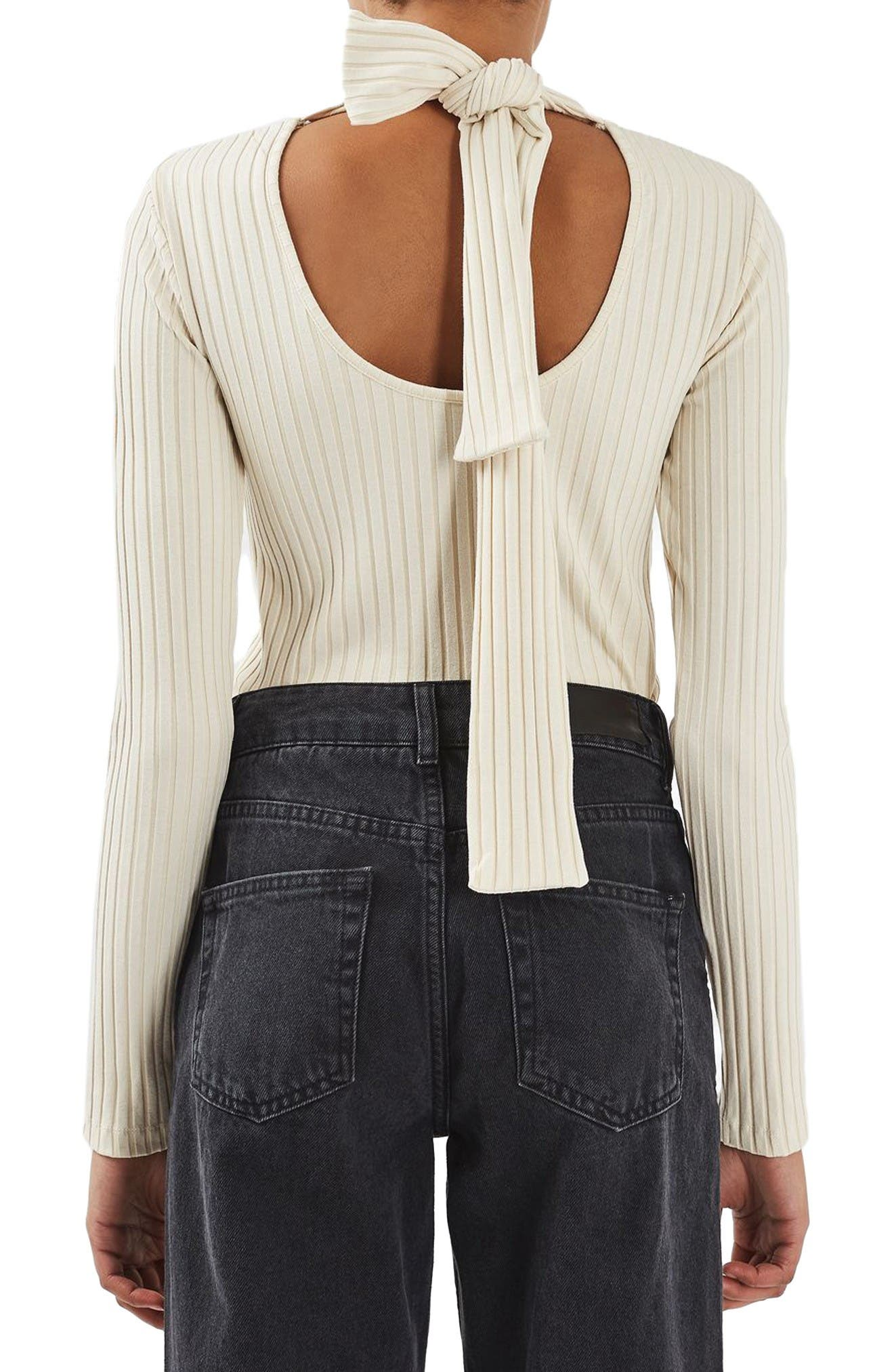Alternate Image 3  - Topshop Boutique Tie Back Sweater