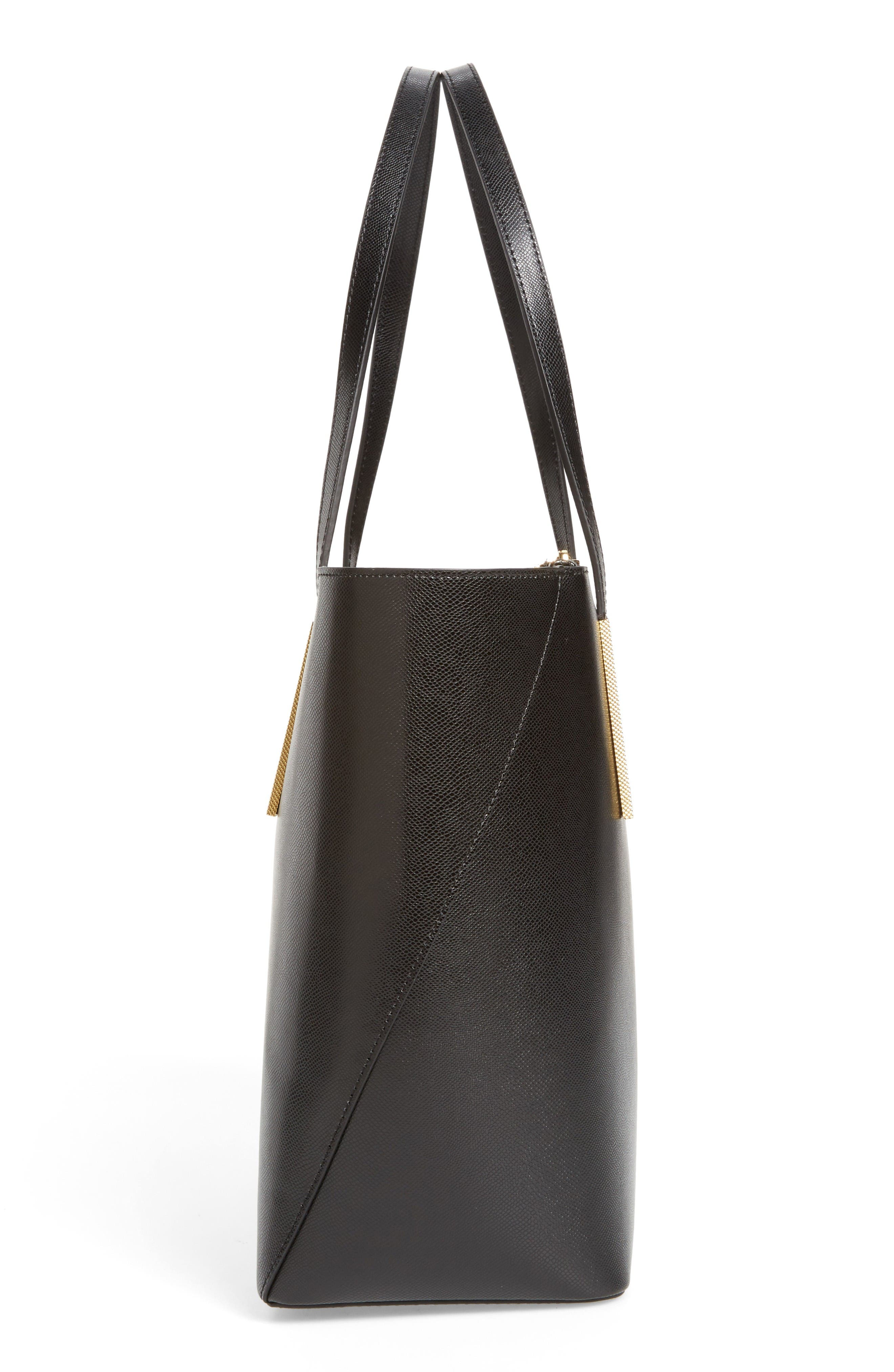 Alternate Image 5  - Ted Baker London Mini Leather Shopper