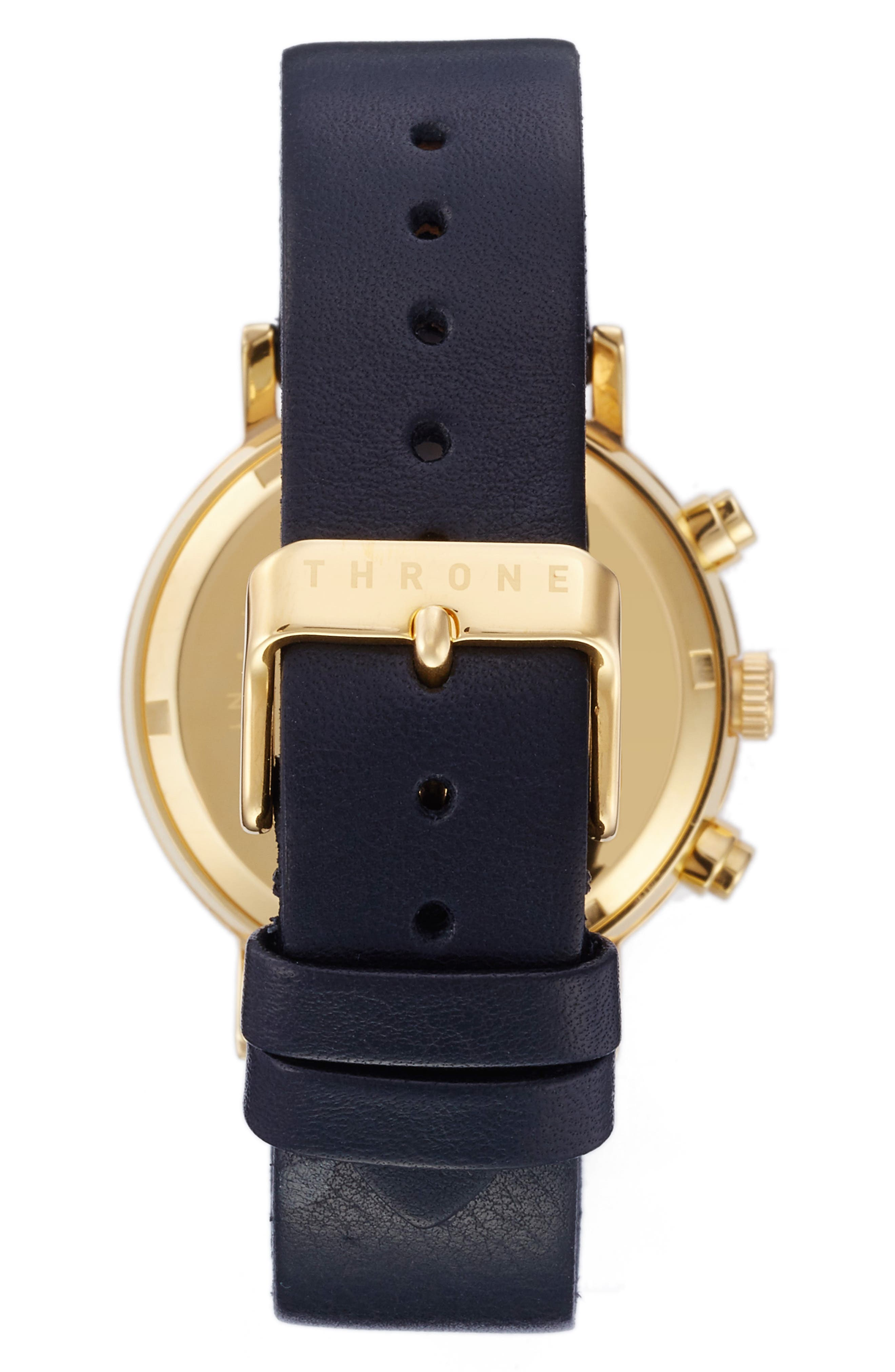 Alternate Image 2  - Throne 2.0 Chronograph Leather Strap Watch, 40mm