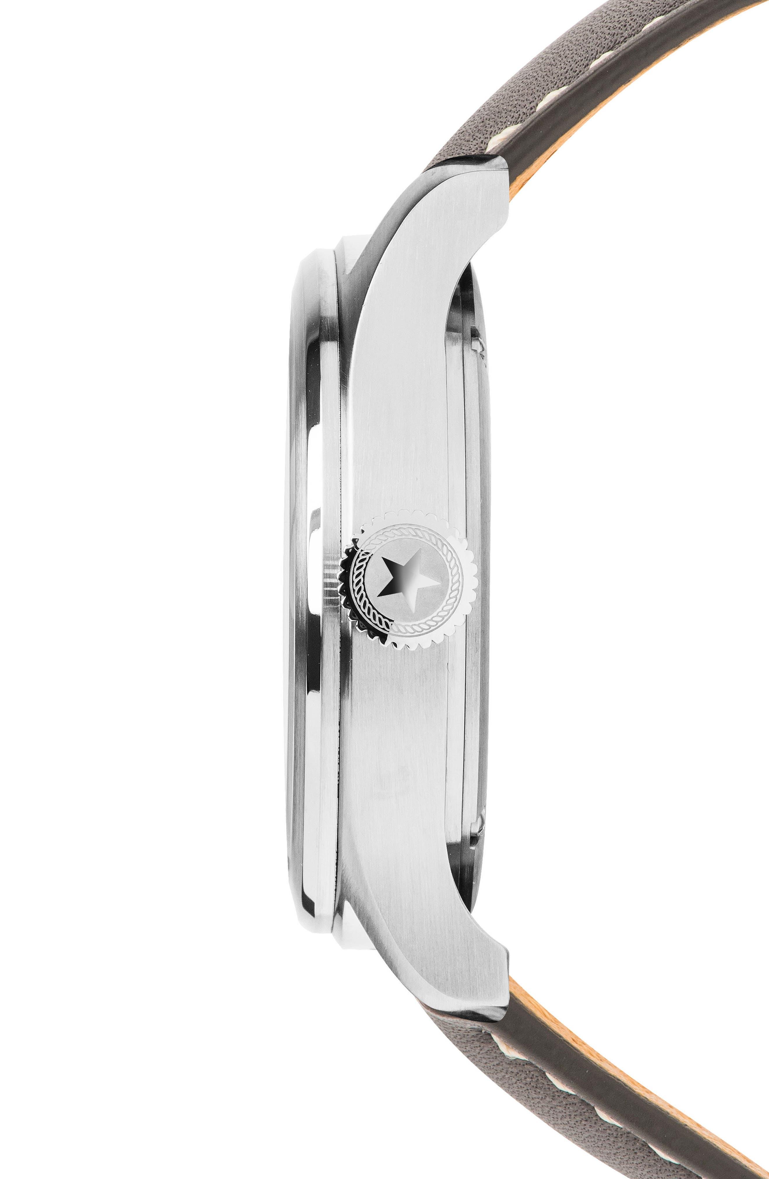 Alternate Image 3  - Jack Mason Aviation Leather Strap Watch, 42mm