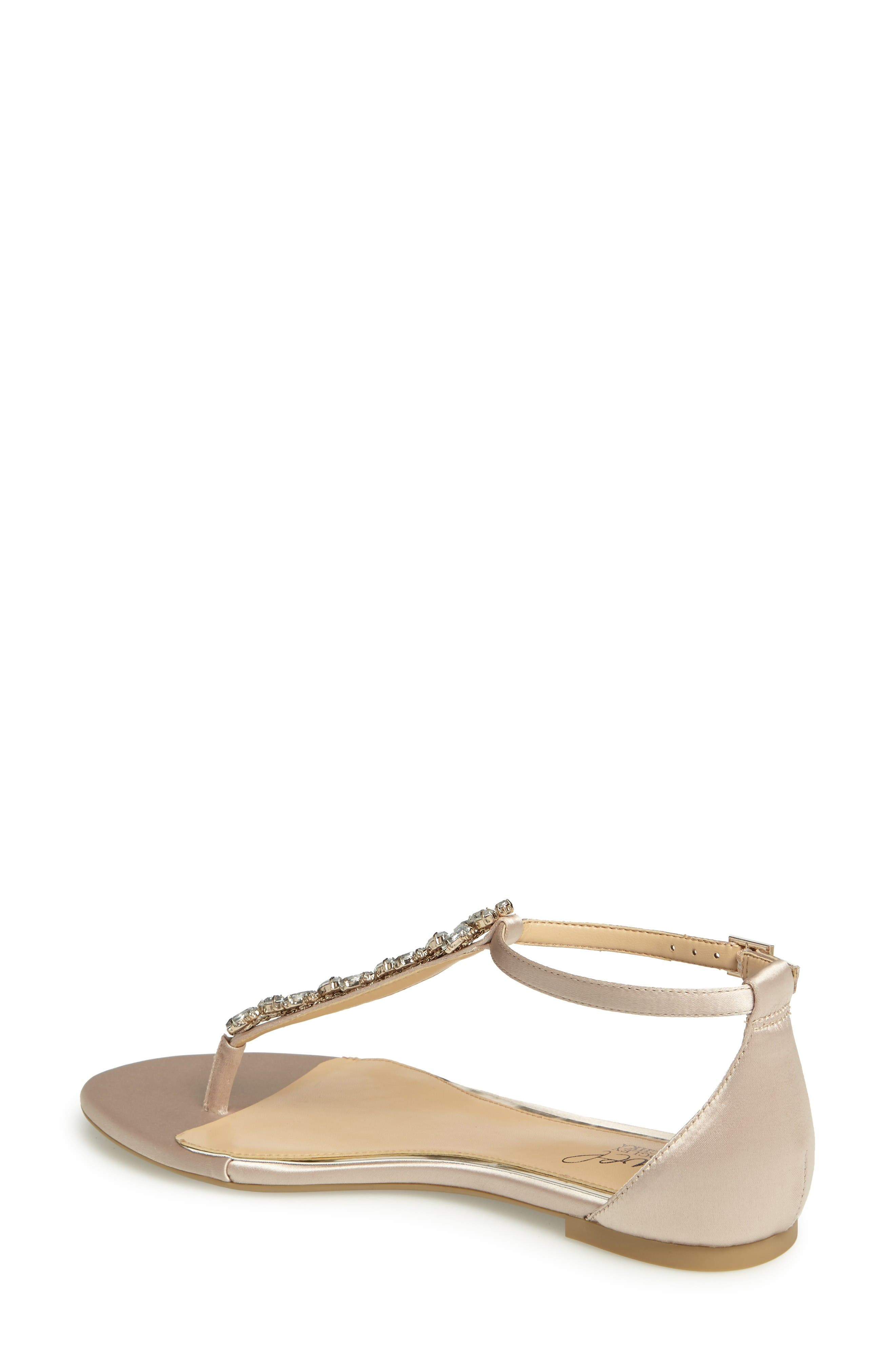 Alternate Image 2  - Jewel Badgley Mischka Carrol Embellished T-Strap Sandal (Women)