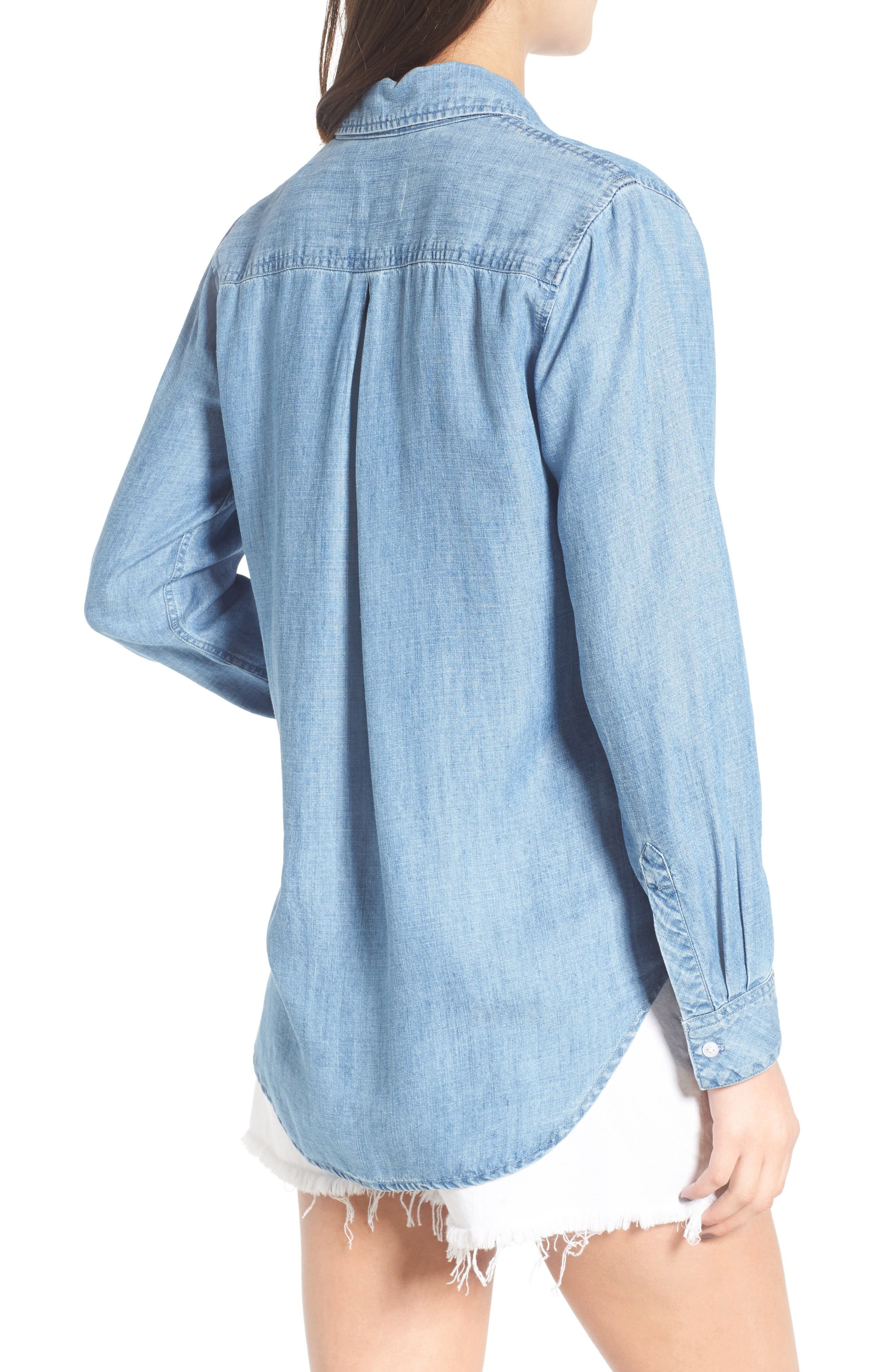 Ingrid Chambray Shirt,                             Alternate thumbnail 2, color,                             Indigo