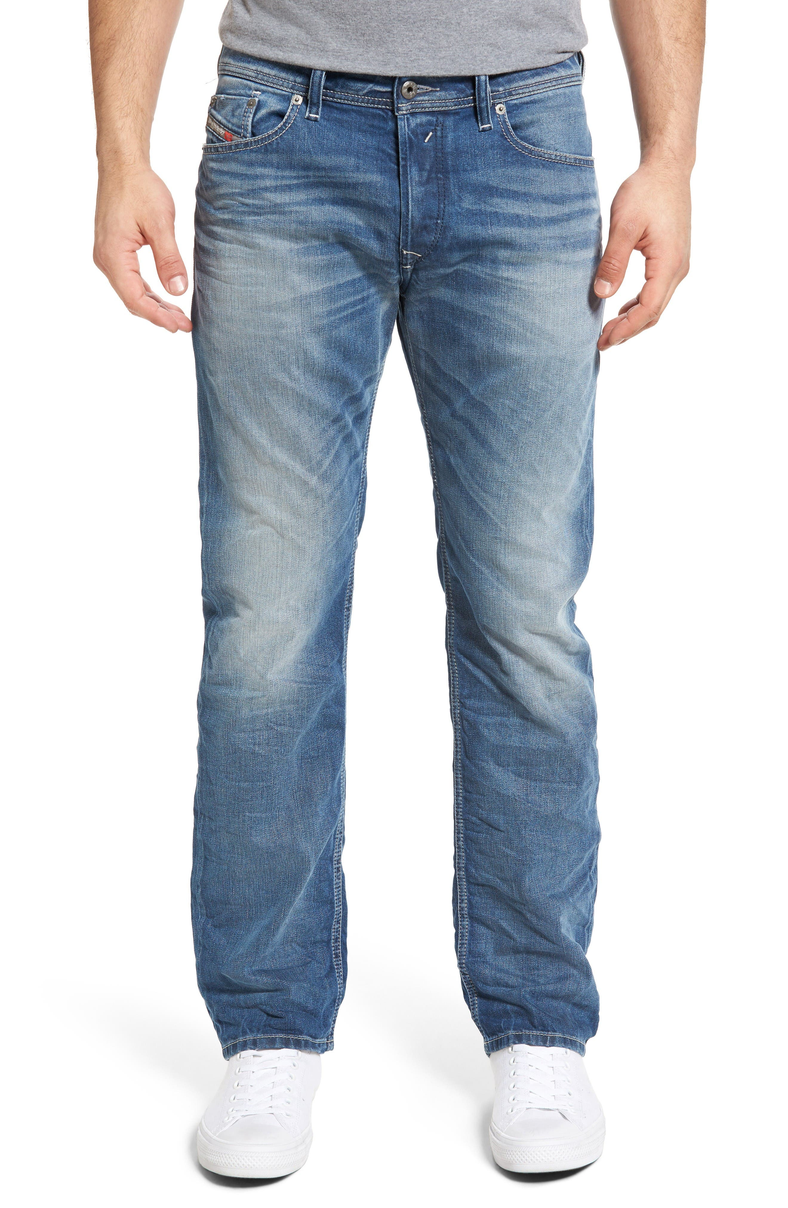 Waykee Straight Leg Jeans,                             Main thumbnail 1, color,                             084Df