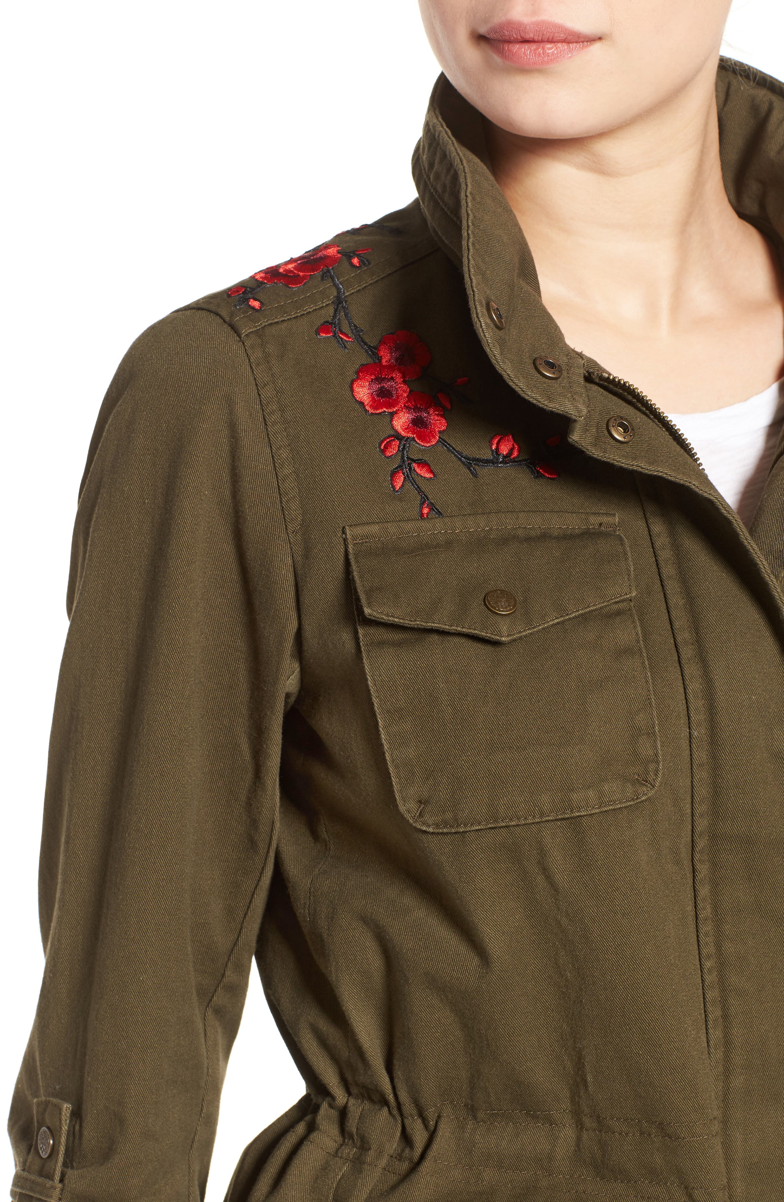 Alternate Image 4  - Vince Camuto Embroidered Cotton Twill Utility Jacket