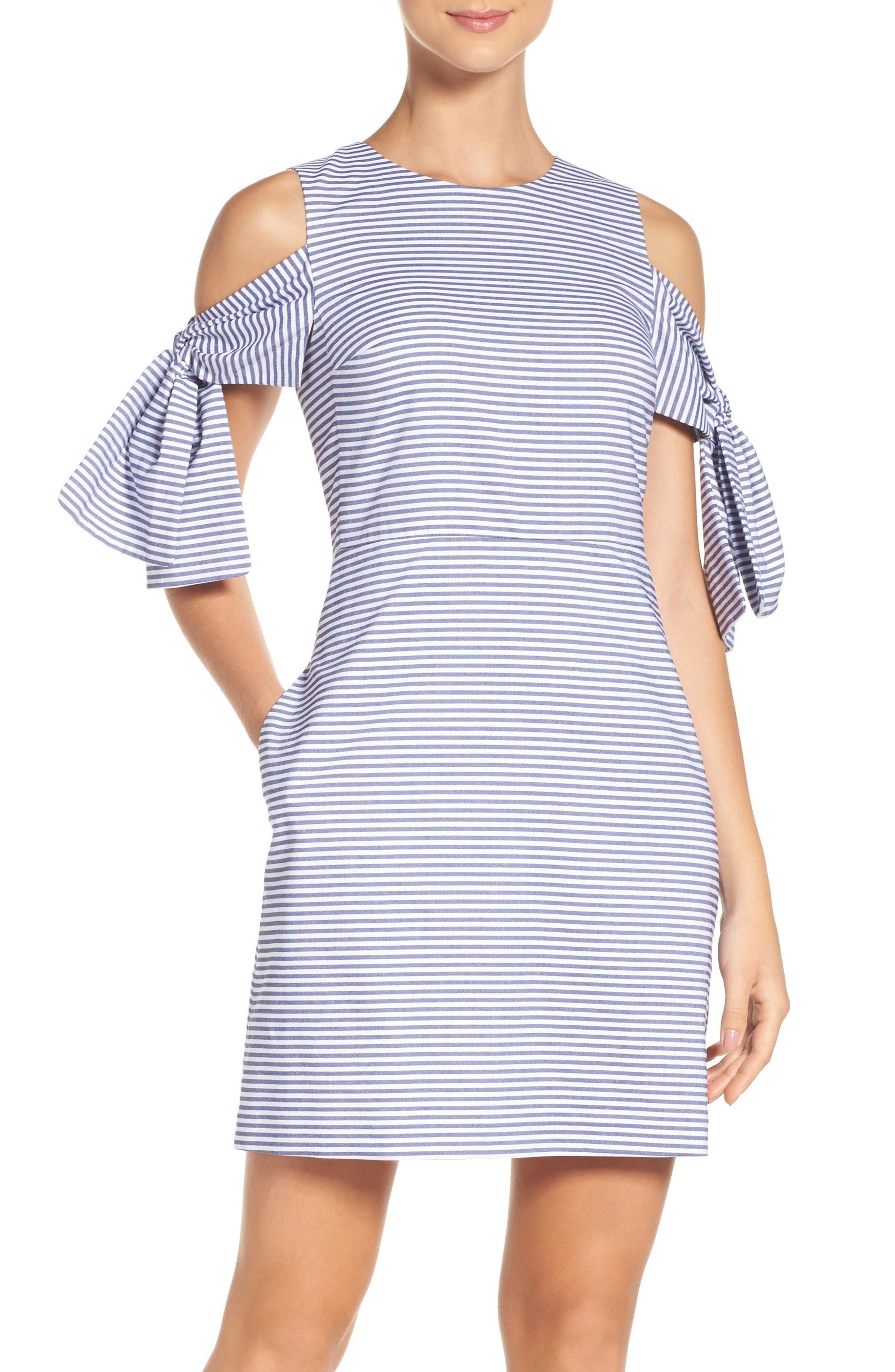 Alternate Image 1 Selected - Chelsea28 Cold Shoulder Shift Dress