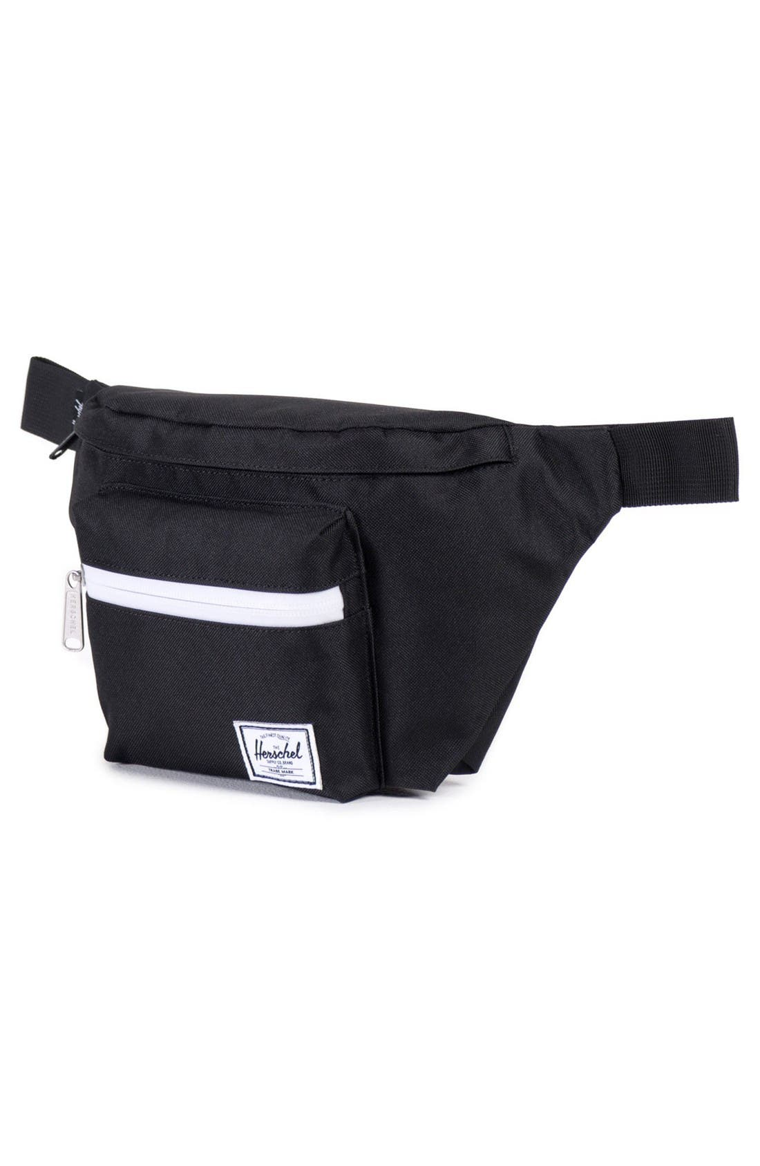 'Seventeen' Belt Bag,                             Alternate thumbnail 3, color,                             Black