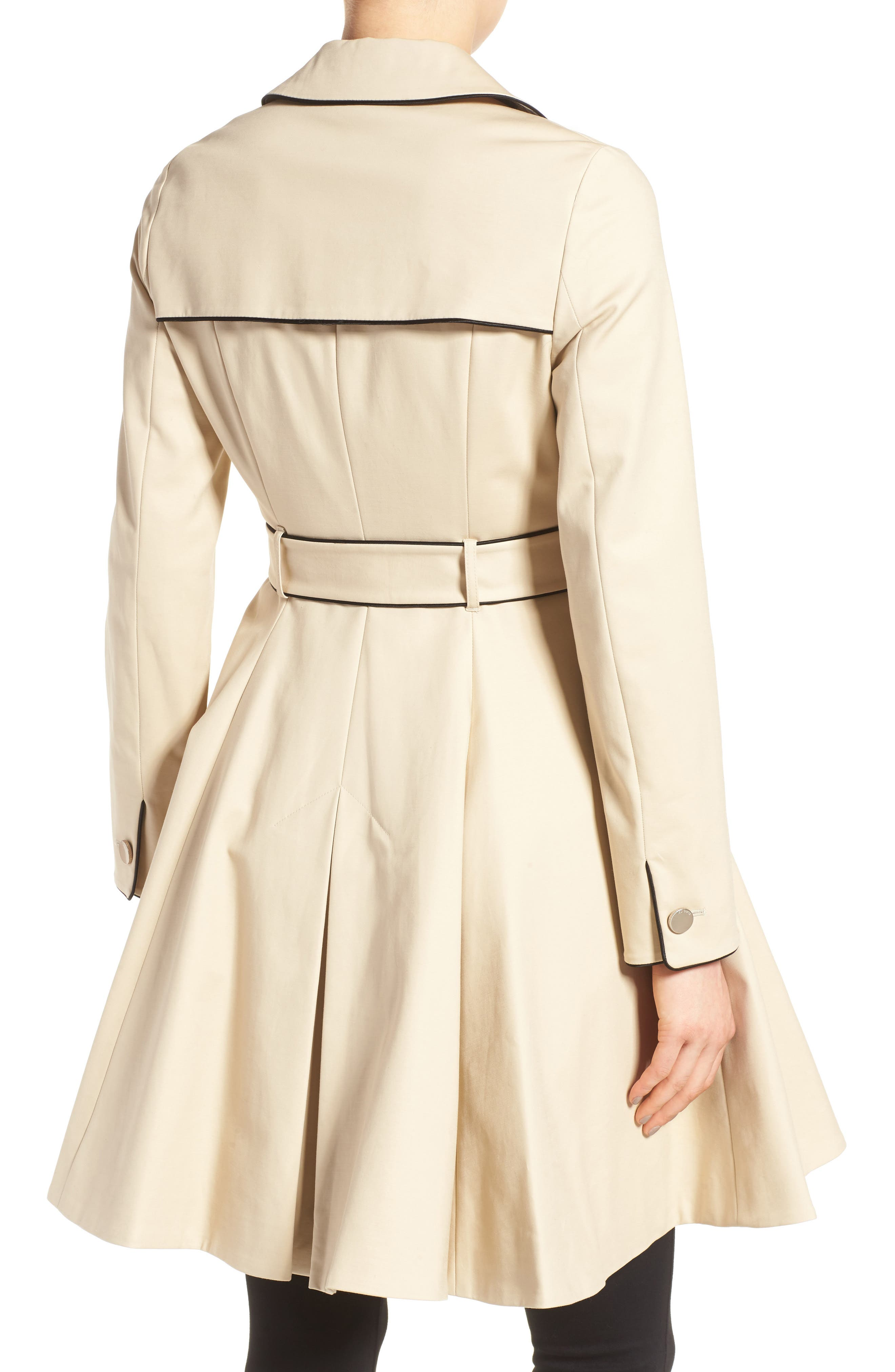 Alternate Image 2  - Ted Baker London Piped Belted A-Line Macintosh Coat