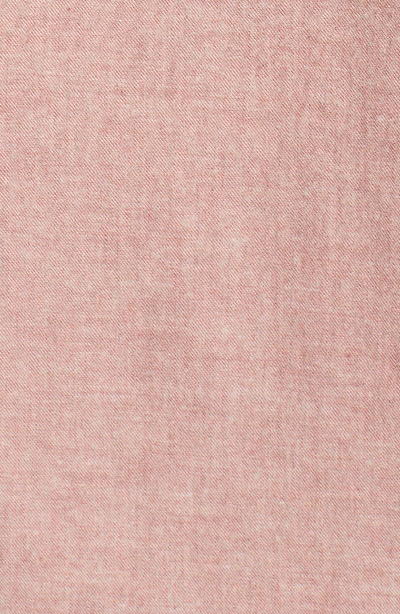 Standard Issue Trim Fit Sport Shirt,                             Alternate thumbnail 5, color,                             Pink