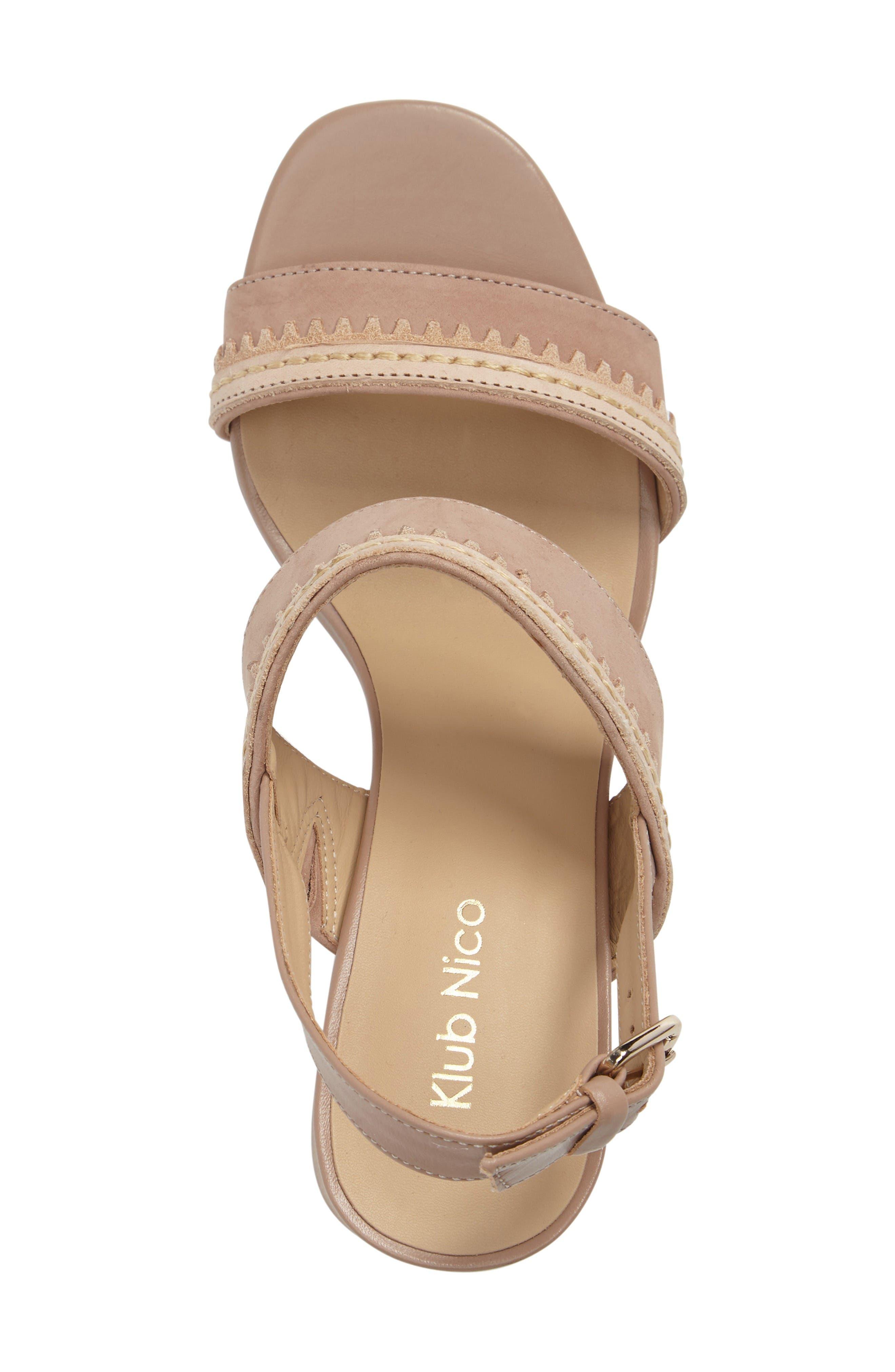 Rycca Block Heel Sandal,                             Alternate thumbnail 3, color,                             Blush Leather