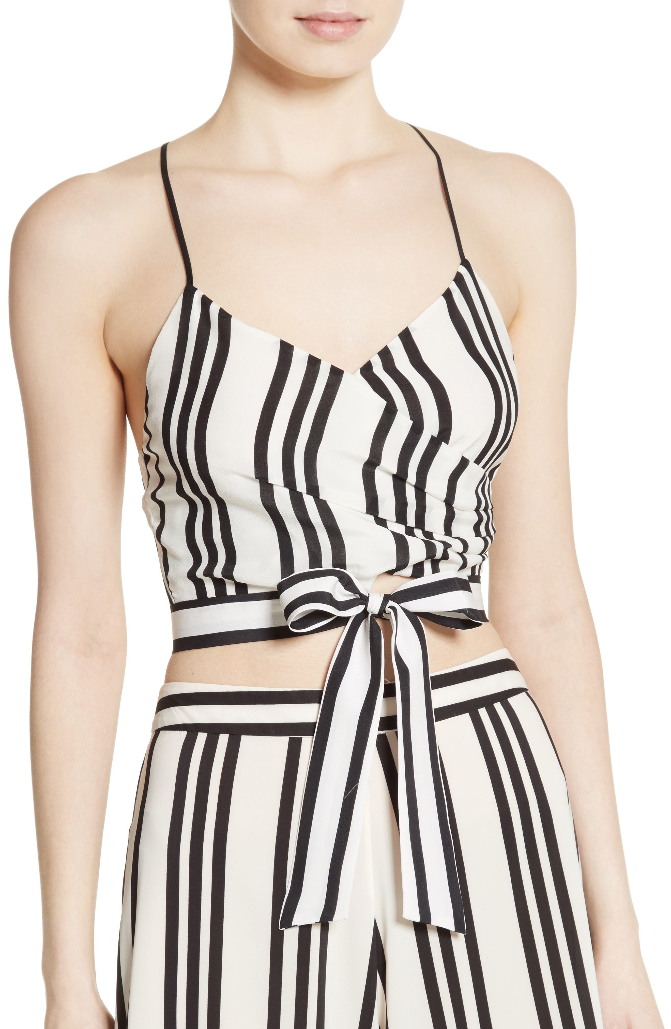 Alternate Image 5  - Alice + Olivia Rayna Tie Front Crossover Crop Tank