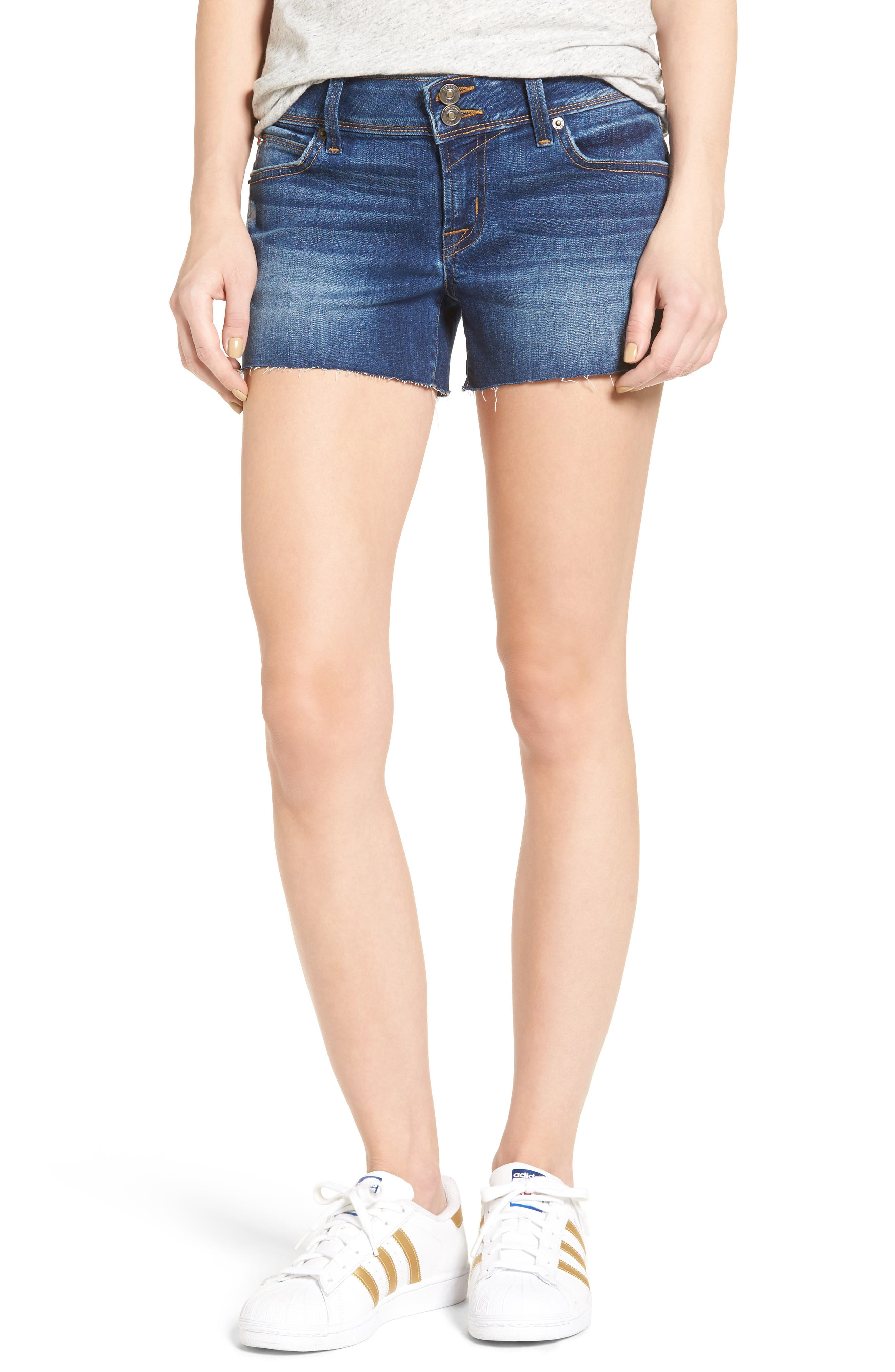 Alternate Image 1 Selected - Hudson Jeans Croxley Cutoff Denim Shorts (Insight)