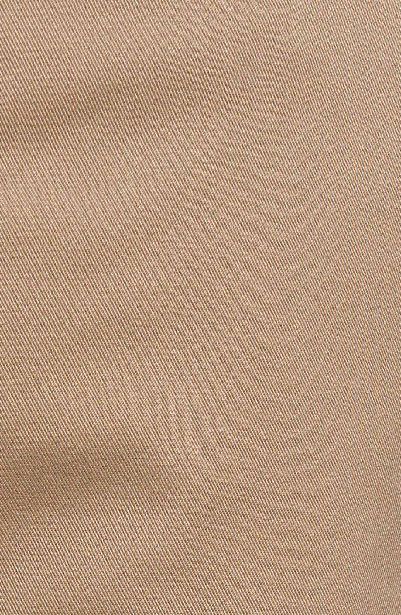 The Week-End Stretch Twill Chino Shorts,                             Alternate thumbnail 5, color,                             Dark Khaki
