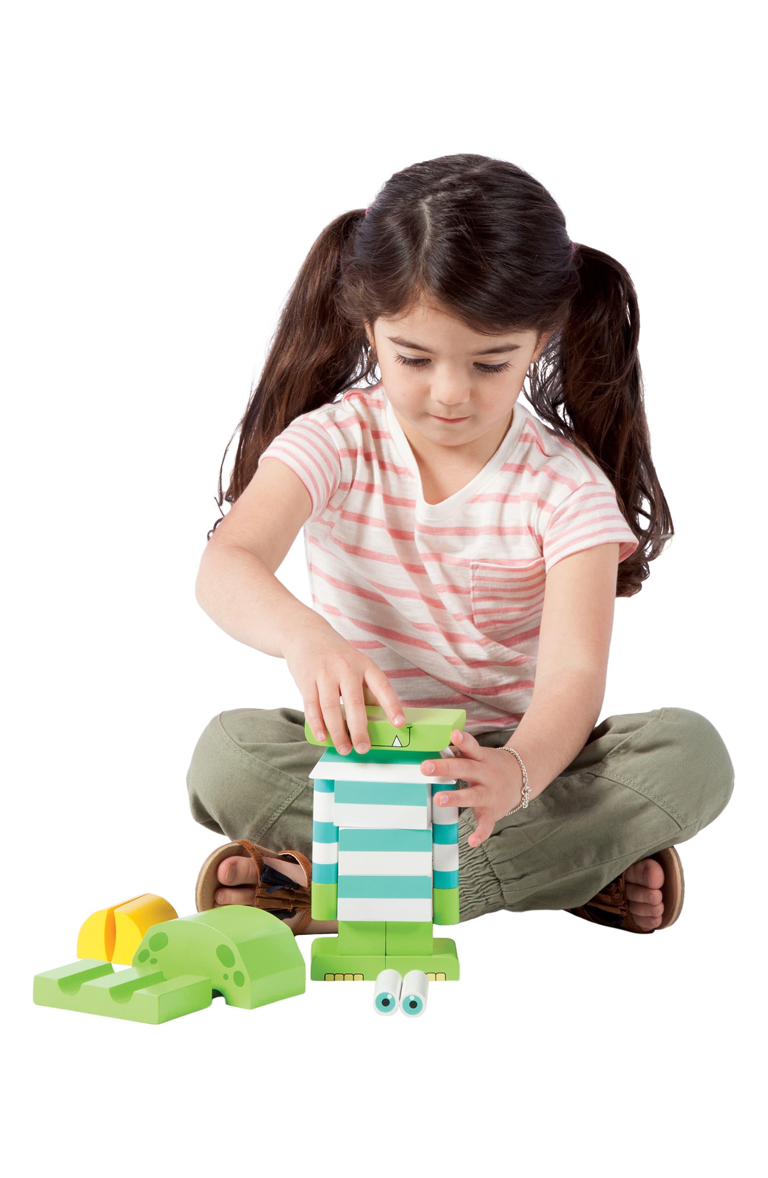 Monty the Monster Magnetic Blocks,                             Alternate thumbnail 3, color,                             Green