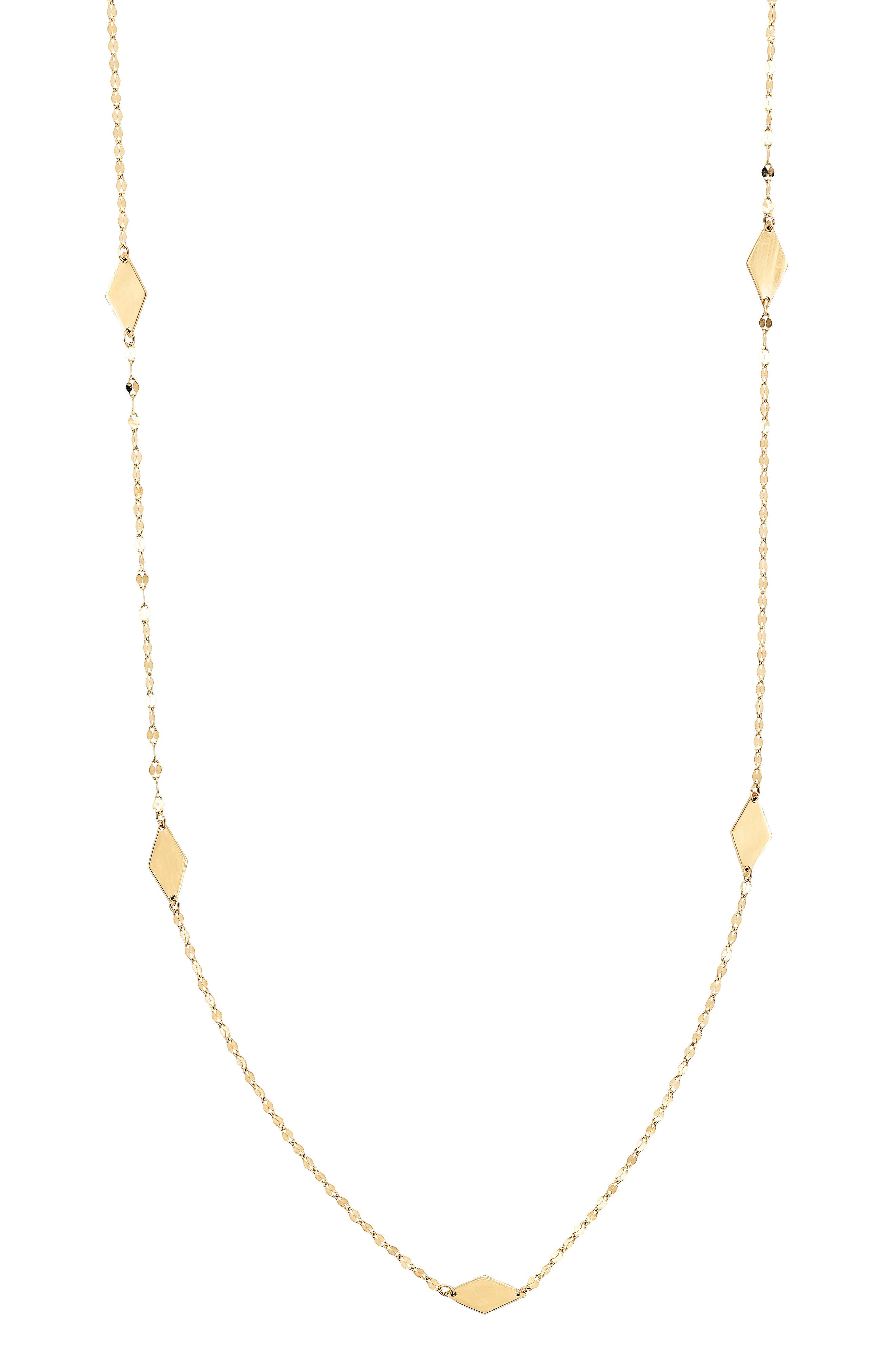 Kite Station Necklace,                         Main,                         color, Yellow Gold