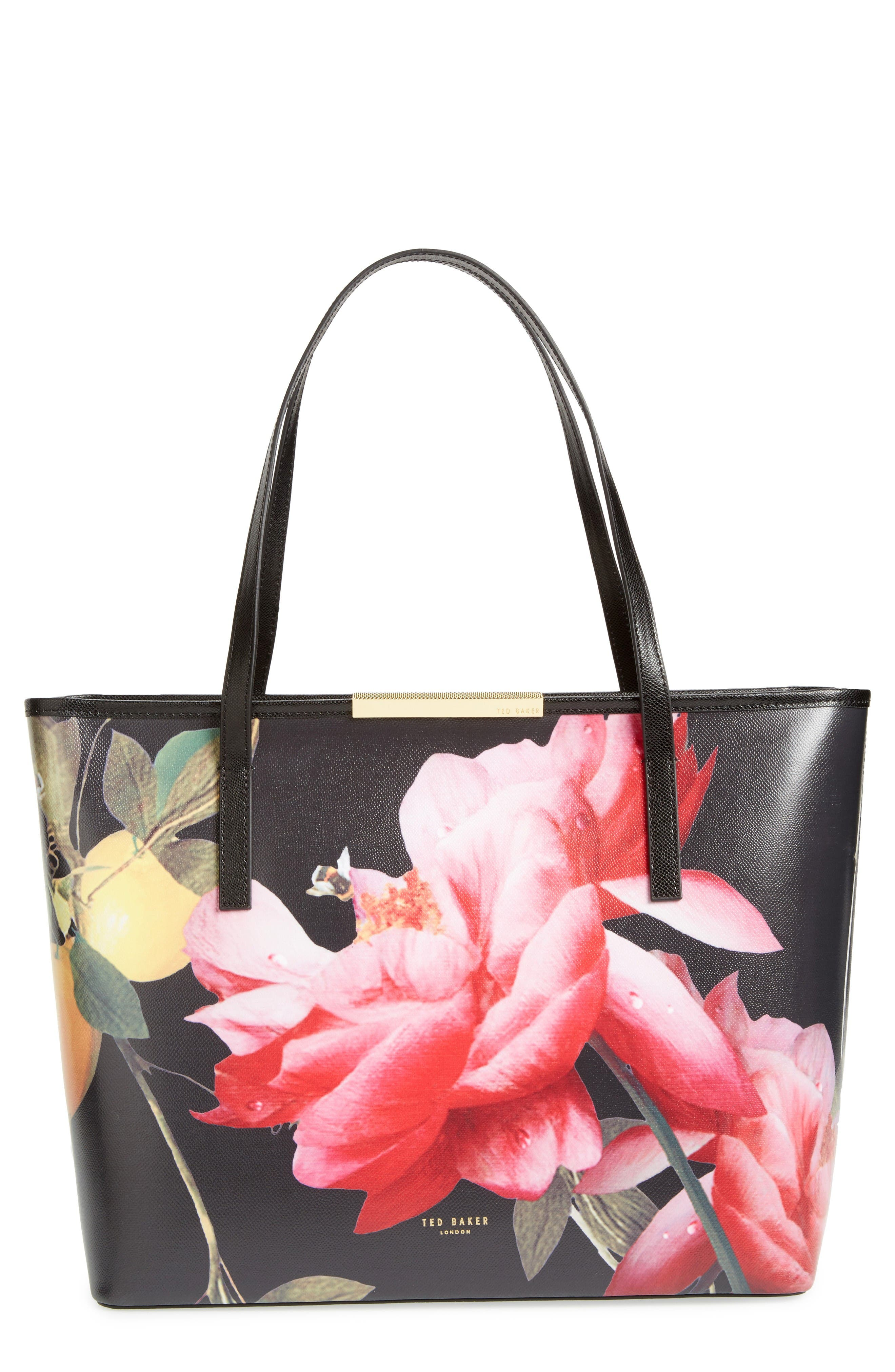 Alternate Image 1 Selected - Ted Baker London Citrus Bloom Joanie Leather Shopper