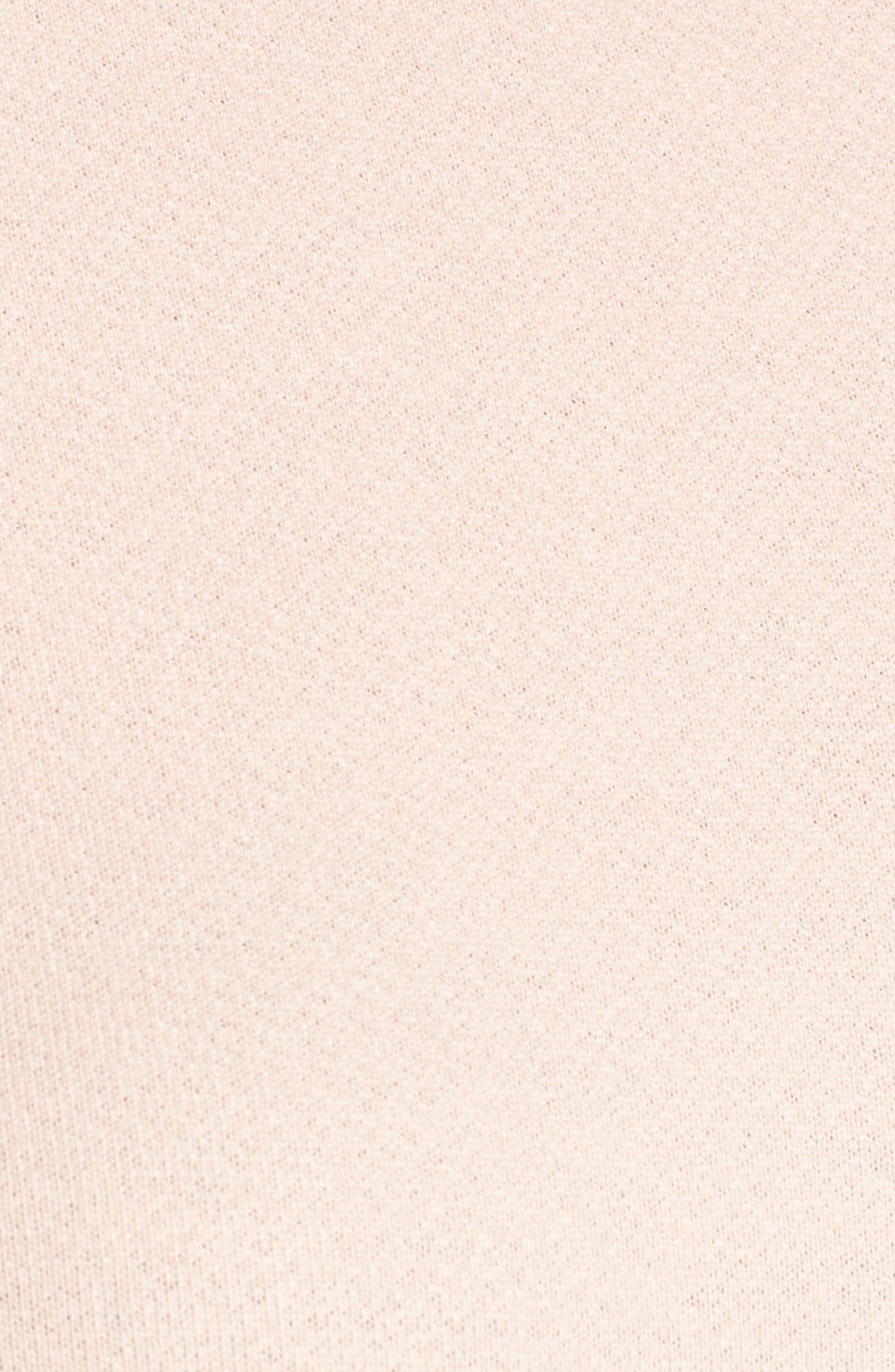 Alternate Image 5  - Pleione Asymmetrical Ruffle Sweatshirt (Regular & Petite)