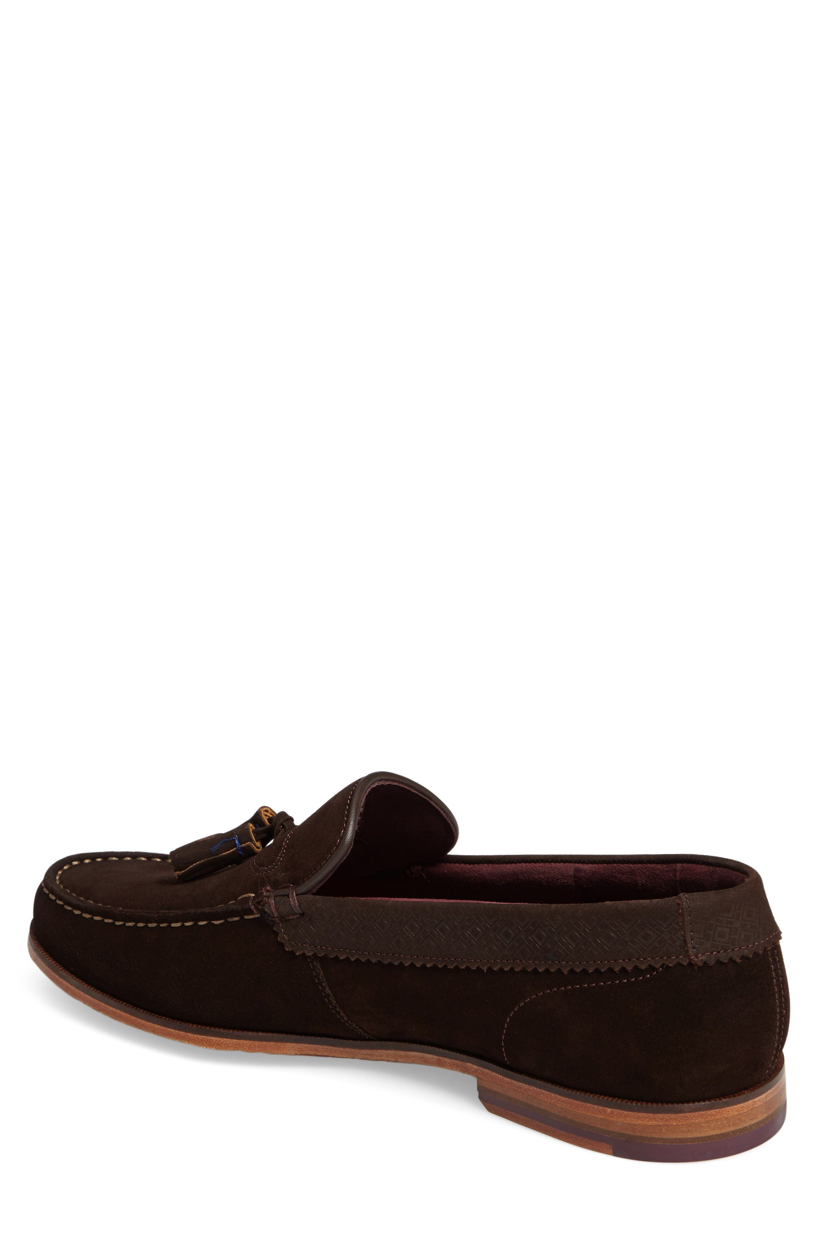 Dougge Tassel Loafer,                             Alternate thumbnail 2, color,                             Brown Suede