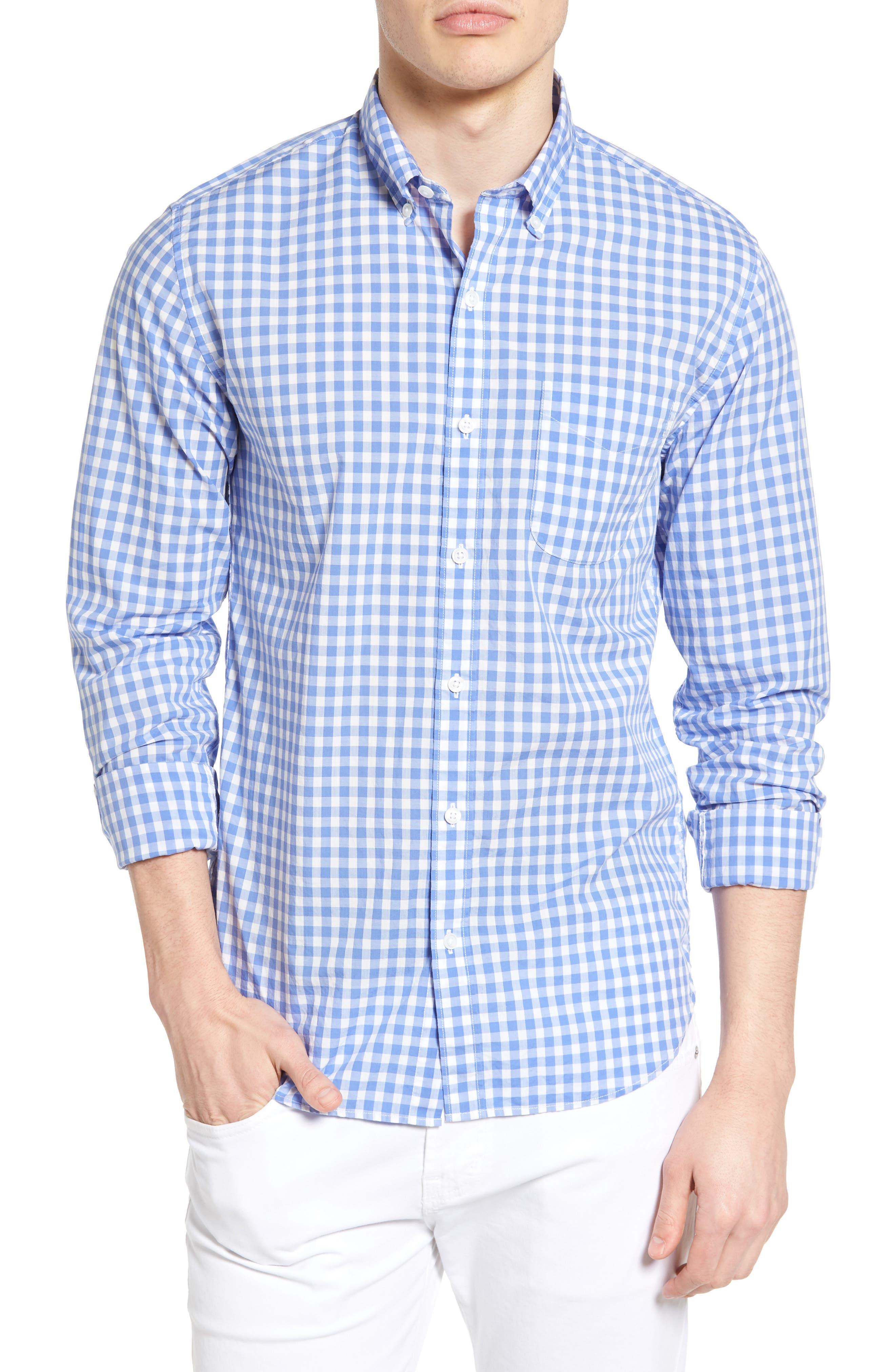 BONOBOS Slim Fit Check Sport Shirt