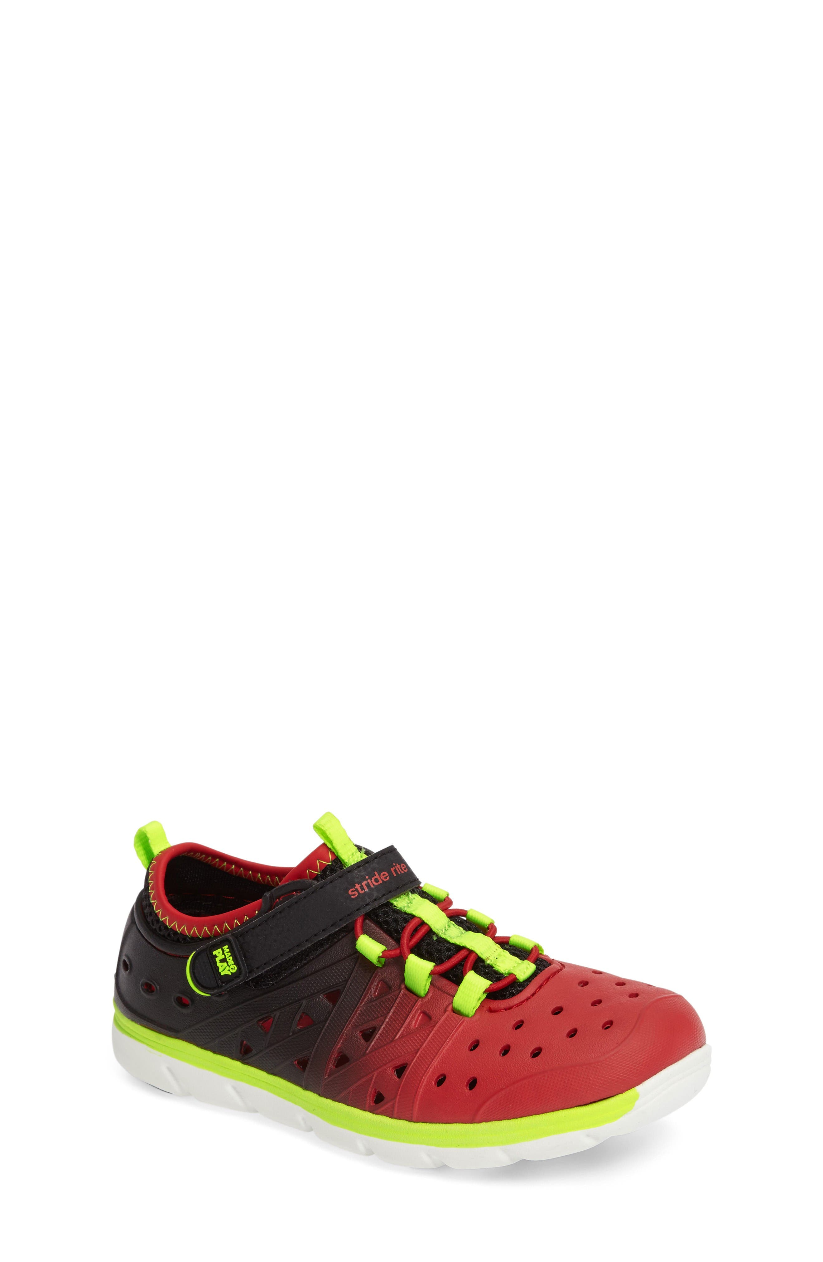 Made2Play<sup>®</sup> Phibian Sneaker,                             Main thumbnail 1, color,                             Black/ Red