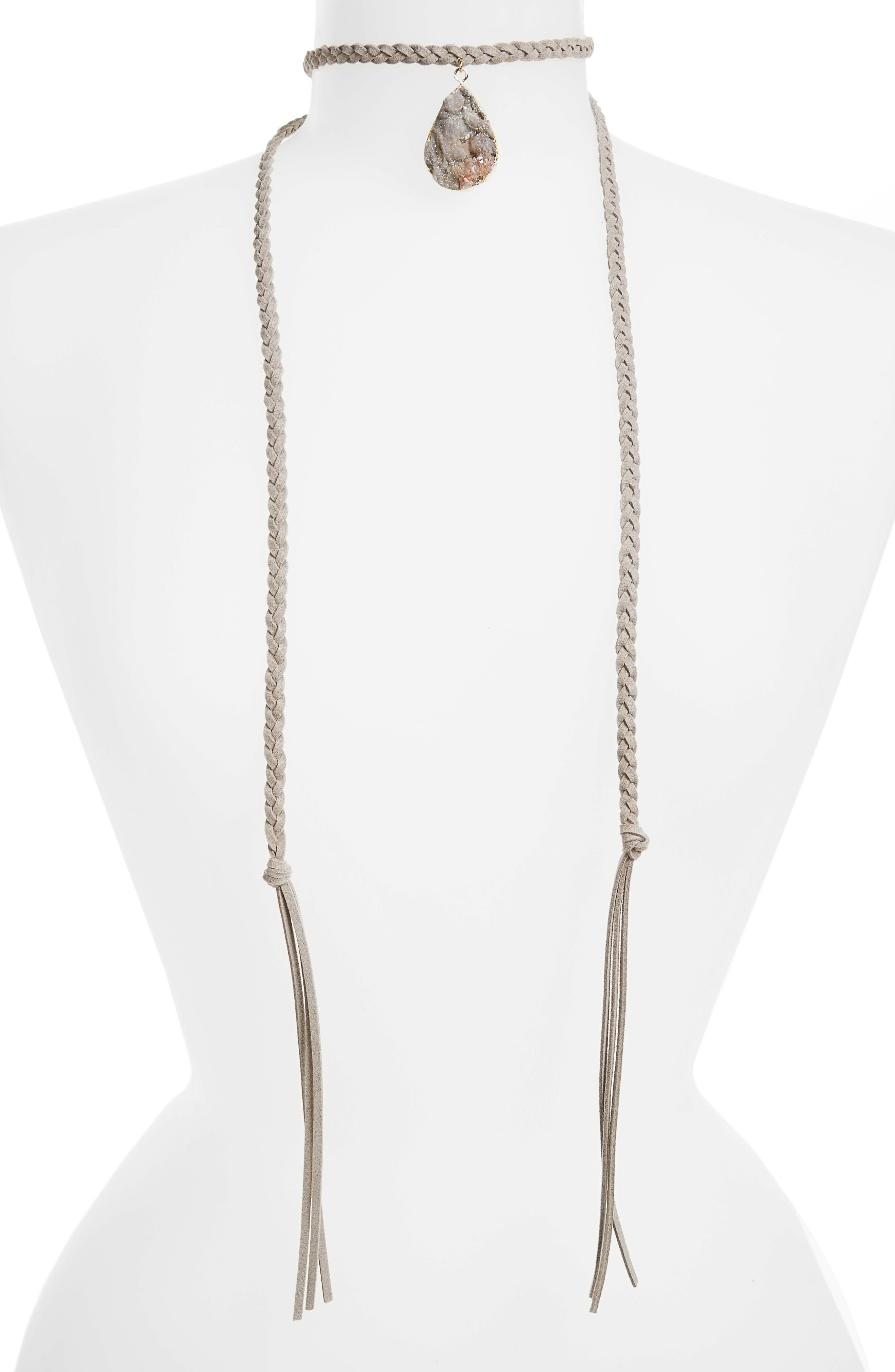 Main Image - Panacea Long Wrap Choker Necklace