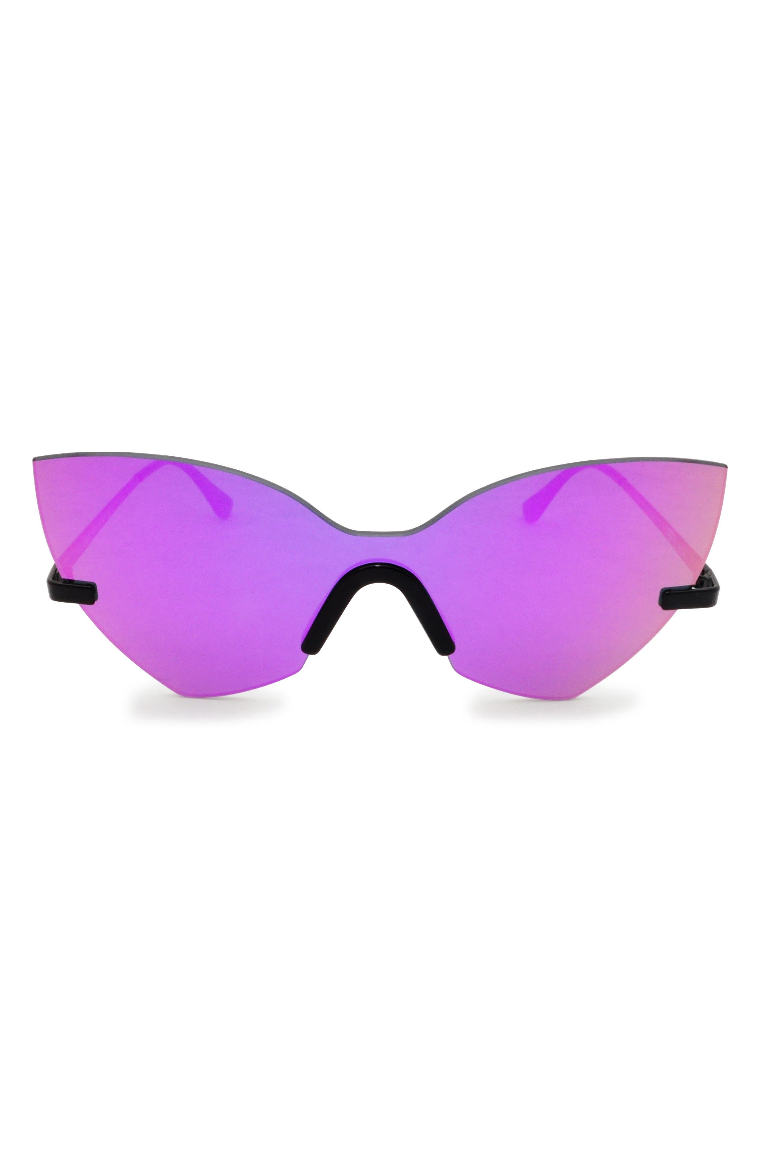 Main Image - GLASSING 55mm Cat Eye Shield Sunglasses