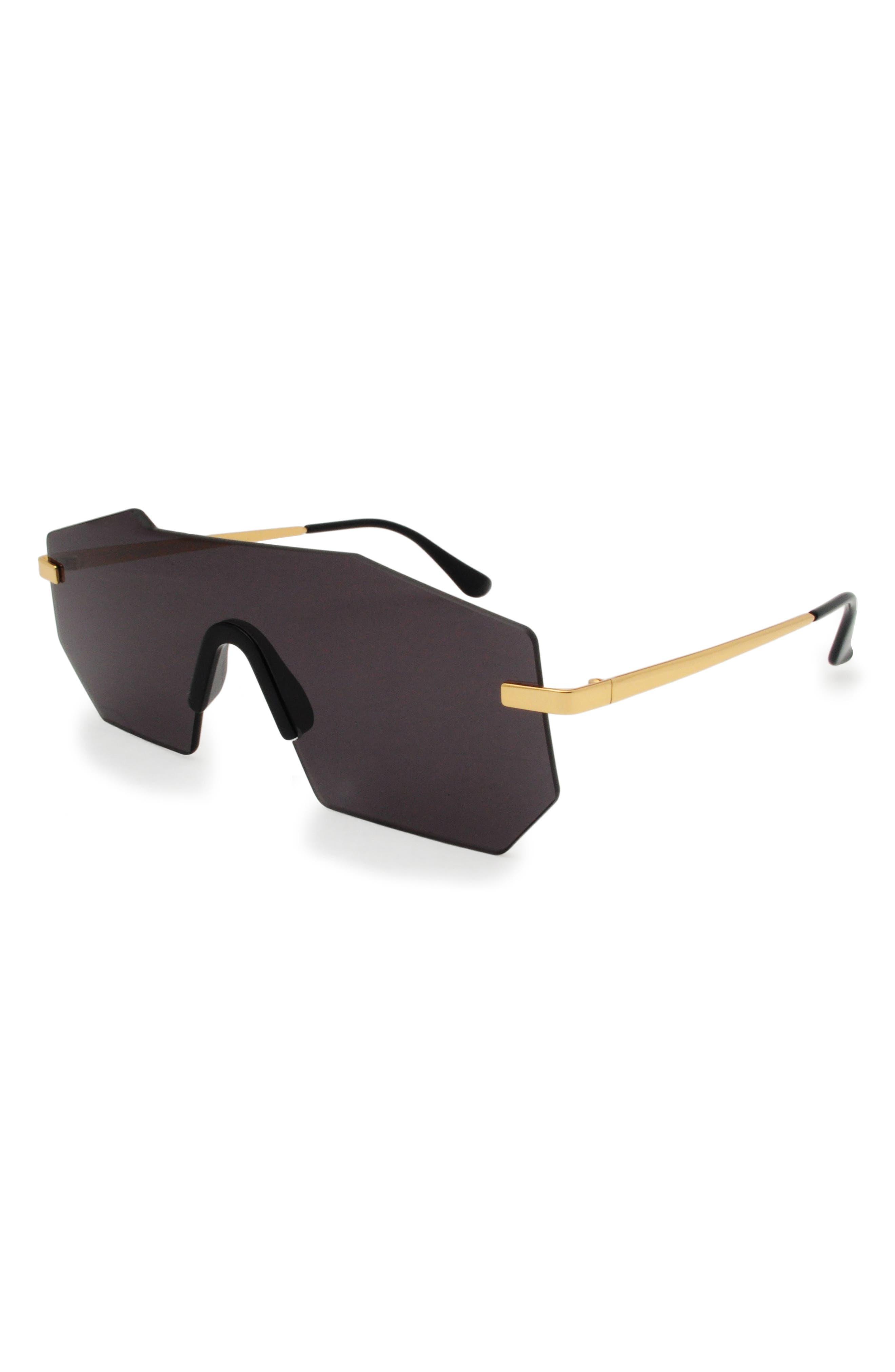 Alternate Image 2  - GLASSING GP1 132mm Shield Sunglasses