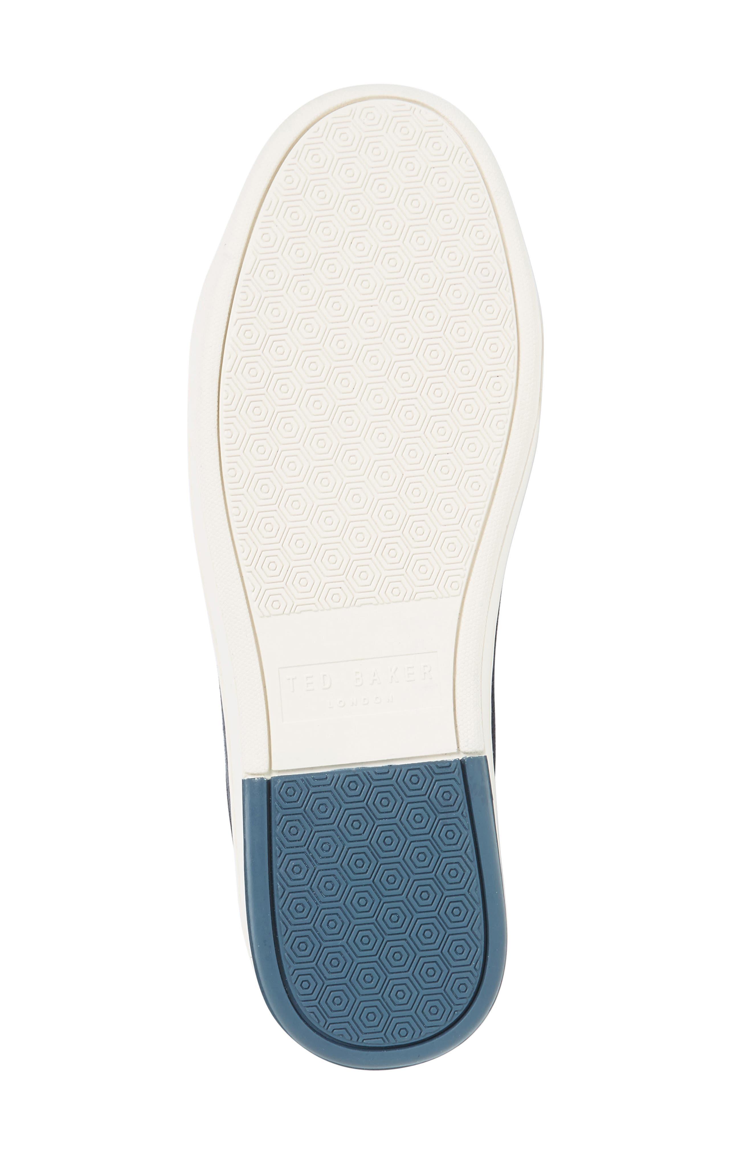 Ternur Geo Print Sneaker,                             Alternate thumbnail 4, color,                             Dark Blue