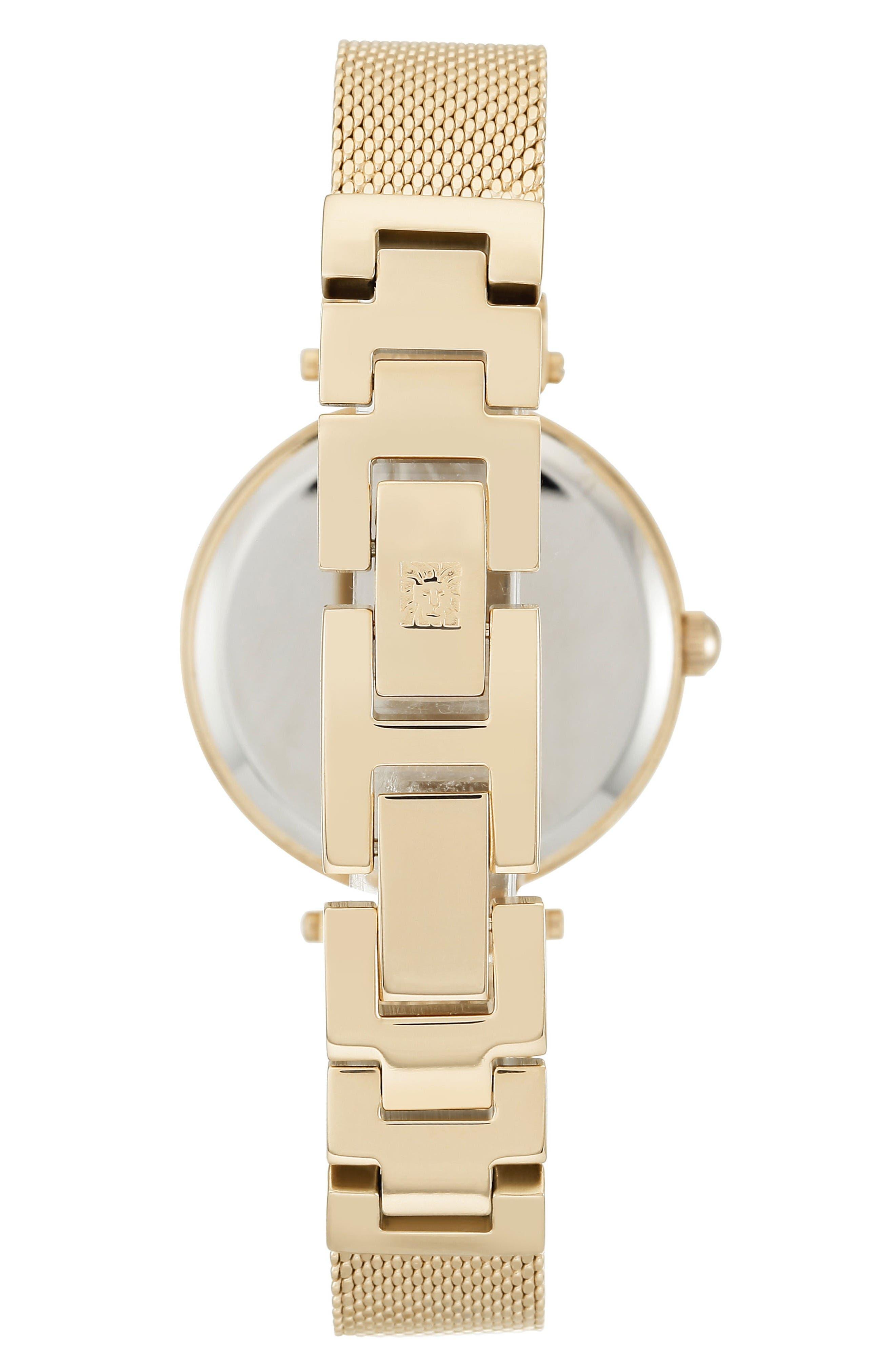 Alternate Image 2  - Anne Klein Mesh Strap Watch, 30mm