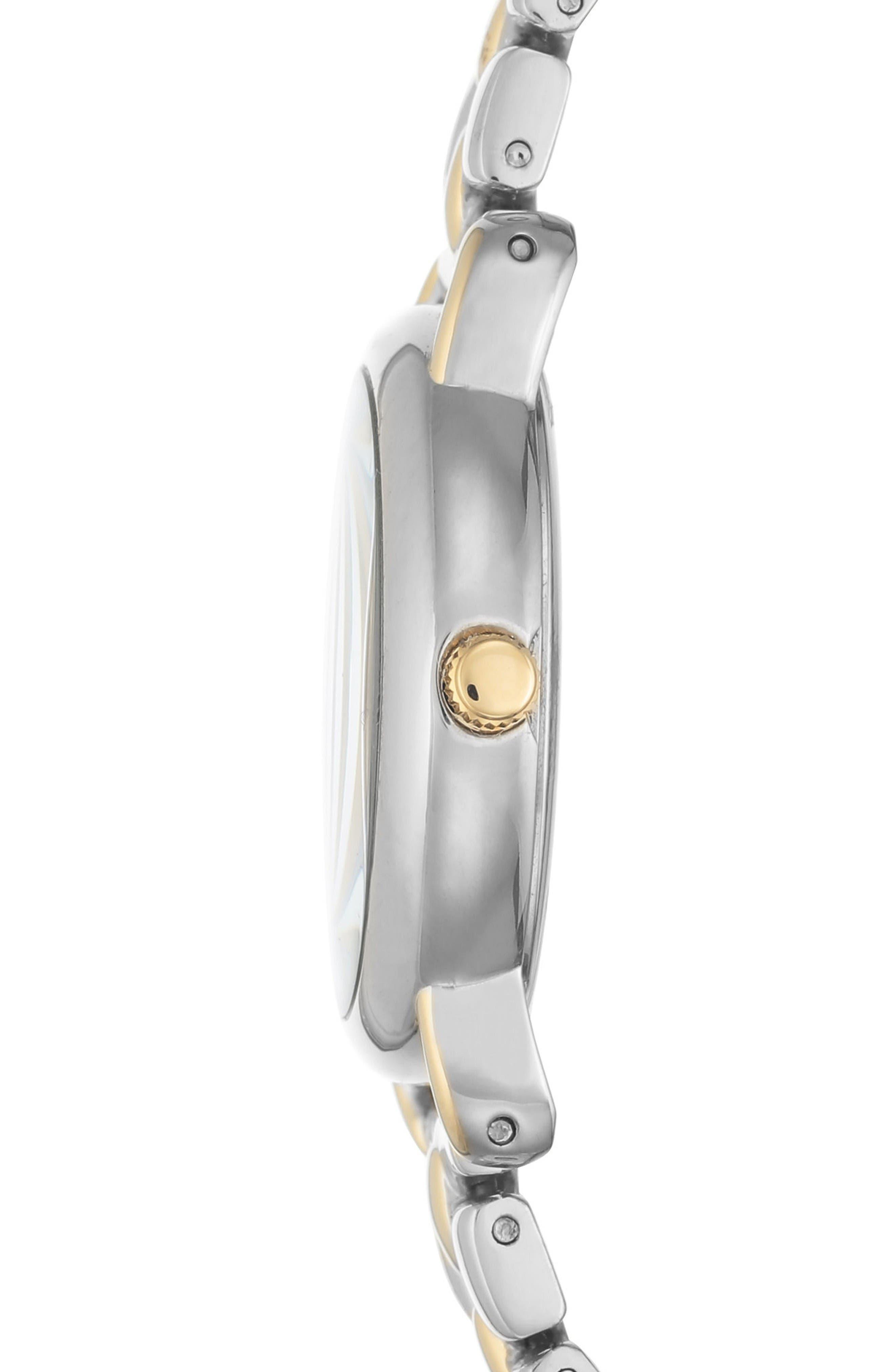 Alternate Image 3  - Anne Klein Diamond Bracelet Watch, 30mm