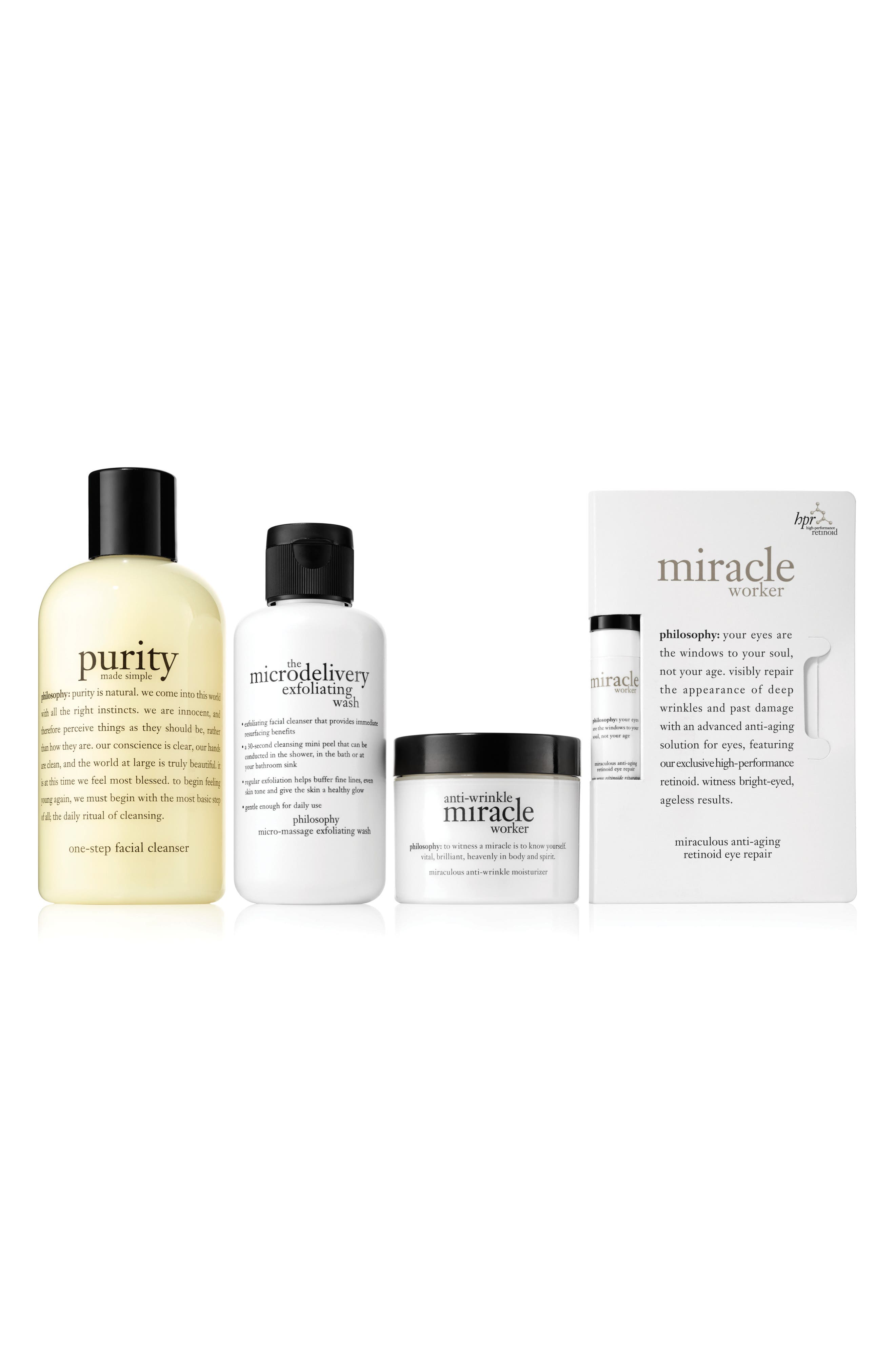Main Image - philosophy anti-wrinkle set (Nordstrom Online Exclusive) ($108 Value)