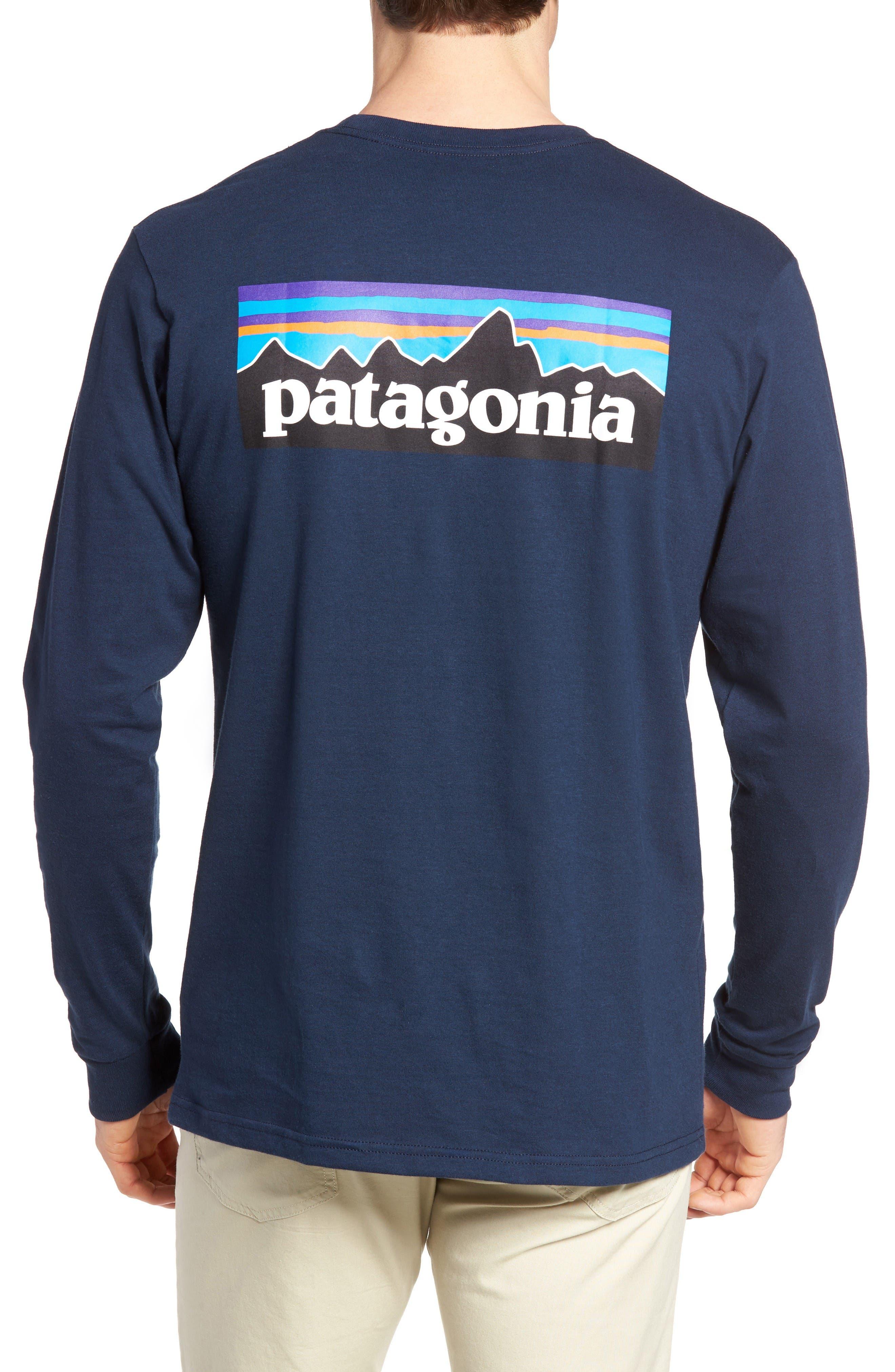 P-6 Logo Organic Cotton T-Shirt,                             Alternate thumbnail 2, color,                             Blue