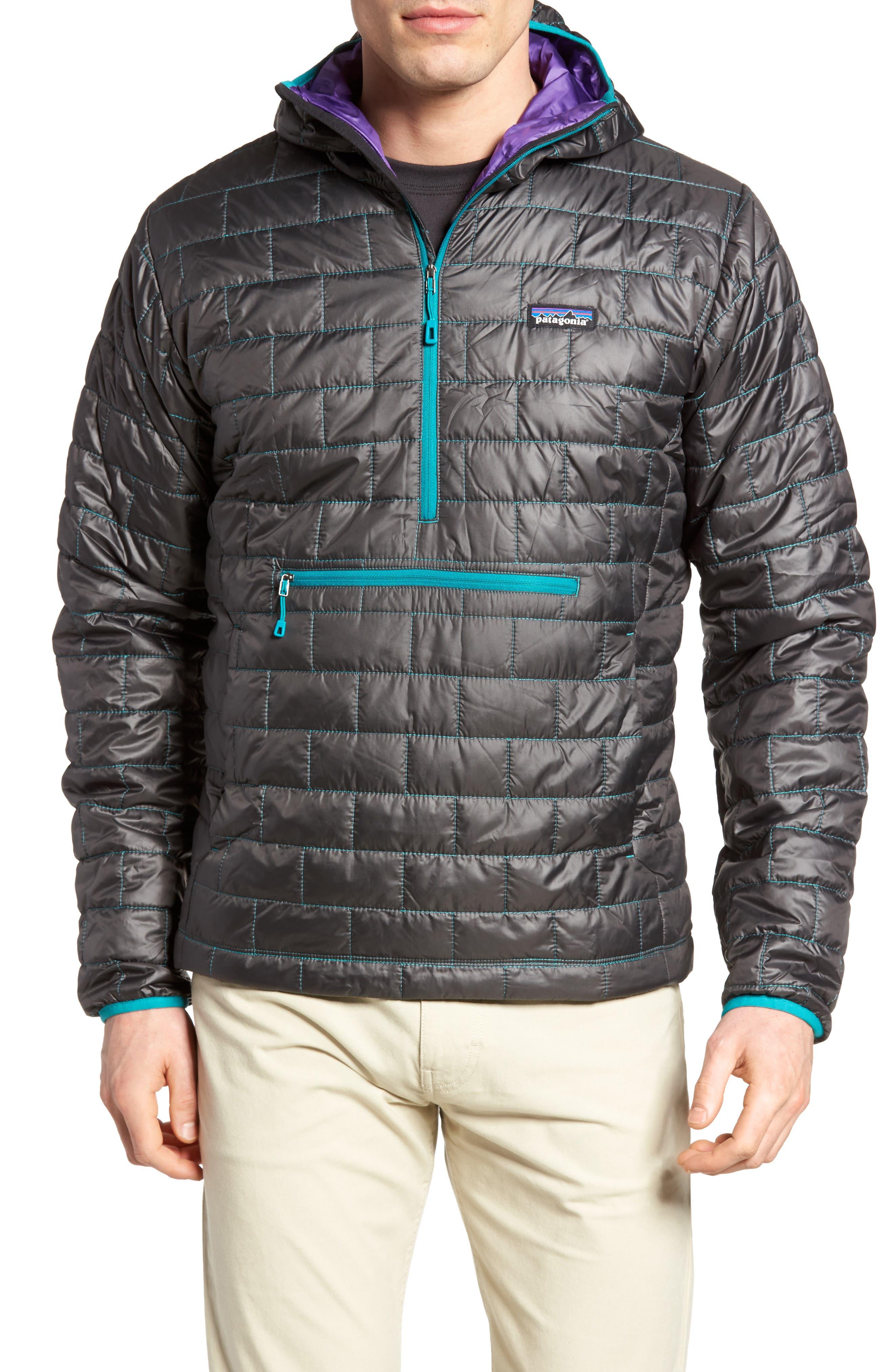 Nano Puff<sup>®</sup> Bivy Regular Fit Water Resistant Jacket,                             Main thumbnail 1, color,                             Black