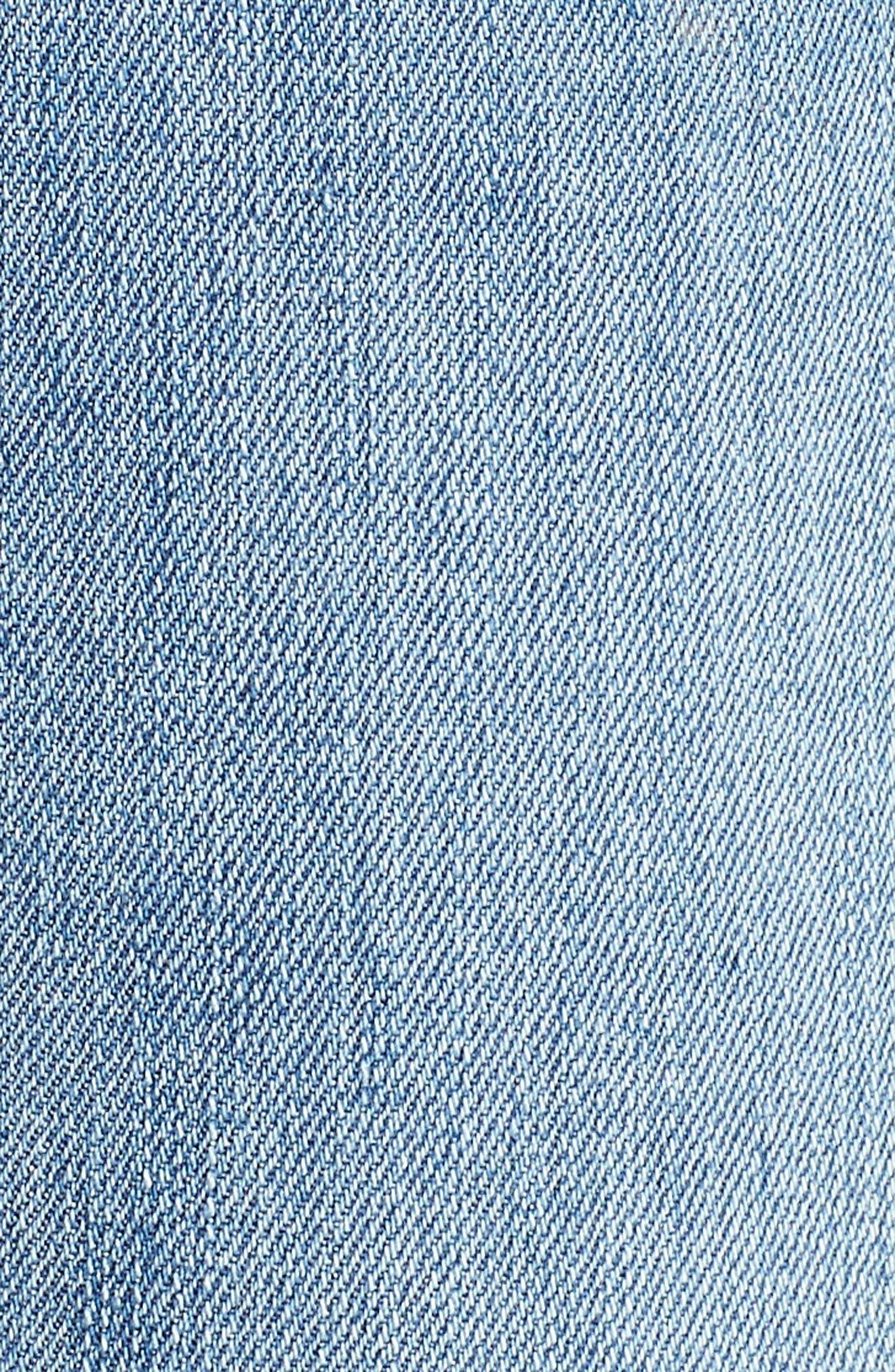 Good Legs High Rise Split Hem Crop Skinny Jeans,                             Alternate thumbnail 5, color,                             Blue 024