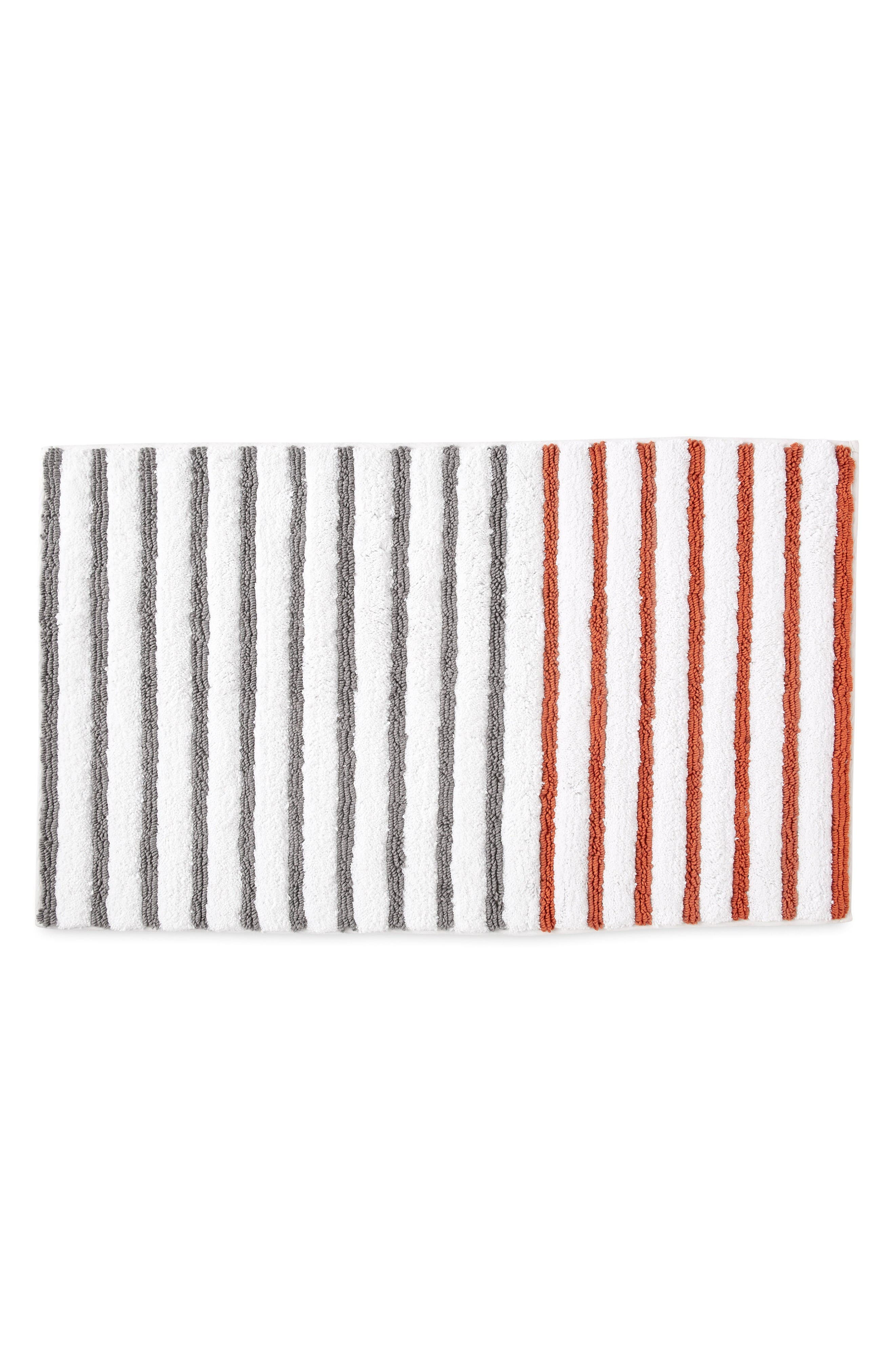 Alternate Image 1 Selected - DKNY Parson Stripe Bath Rug