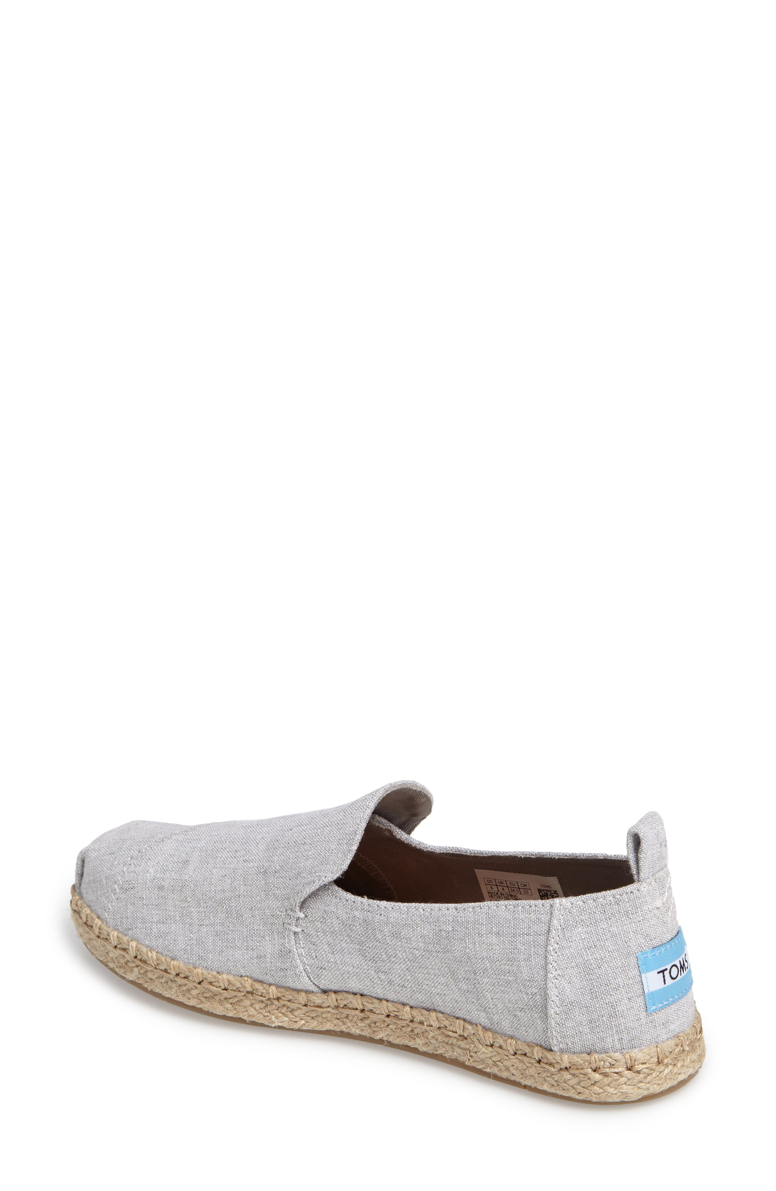 Espadrille Slip-On,                             Alternate thumbnail 2, color,                             Grey