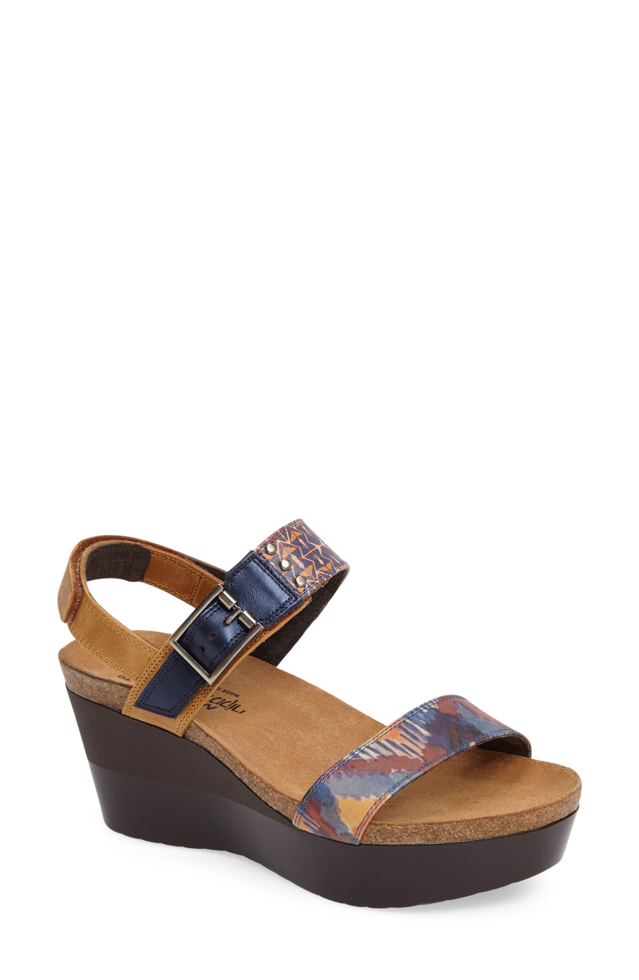 Naot Alpha Platform Wedge Sandal Sandal (Women)