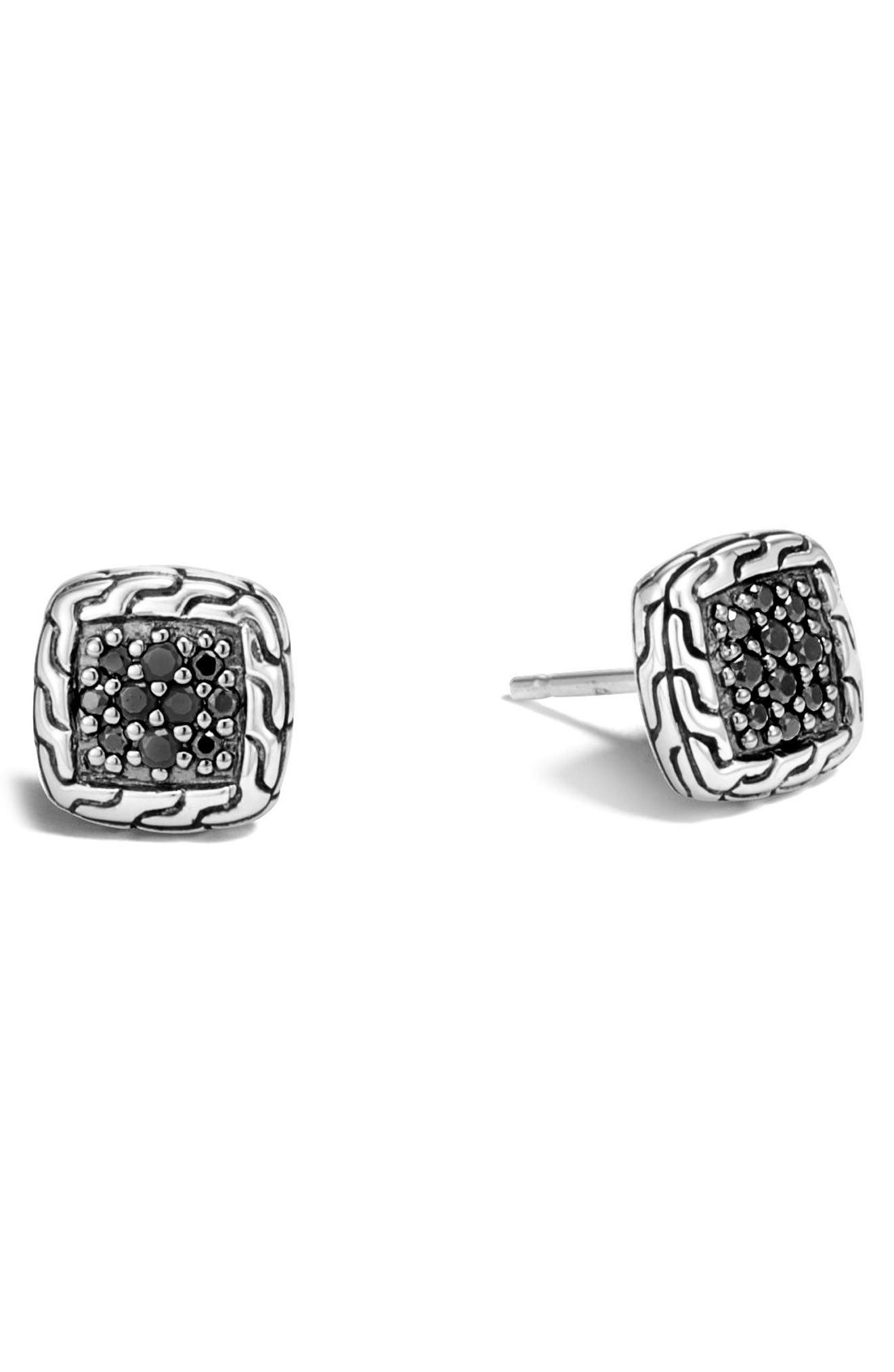 John Hardy Classic Chain Sapphire Silver Studs
