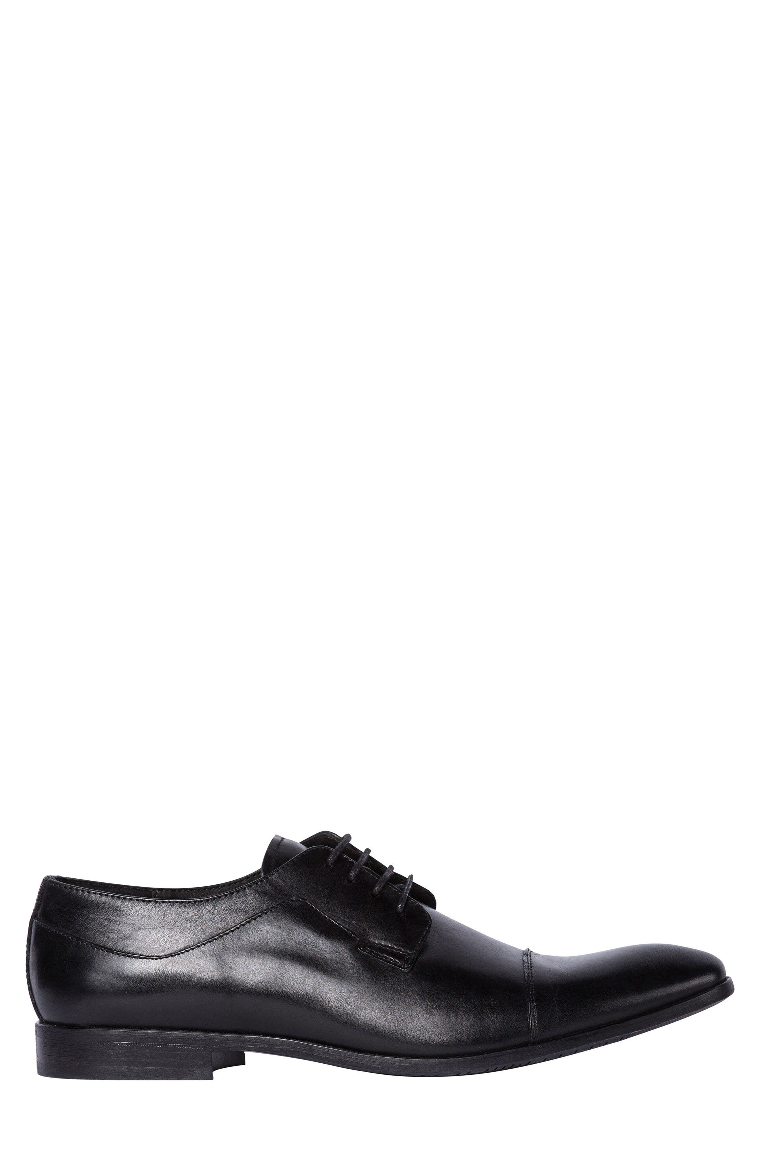 Admiral's Way Cap Toe Derby,                             Alternate thumbnail 3, color,                             Nero Leather
