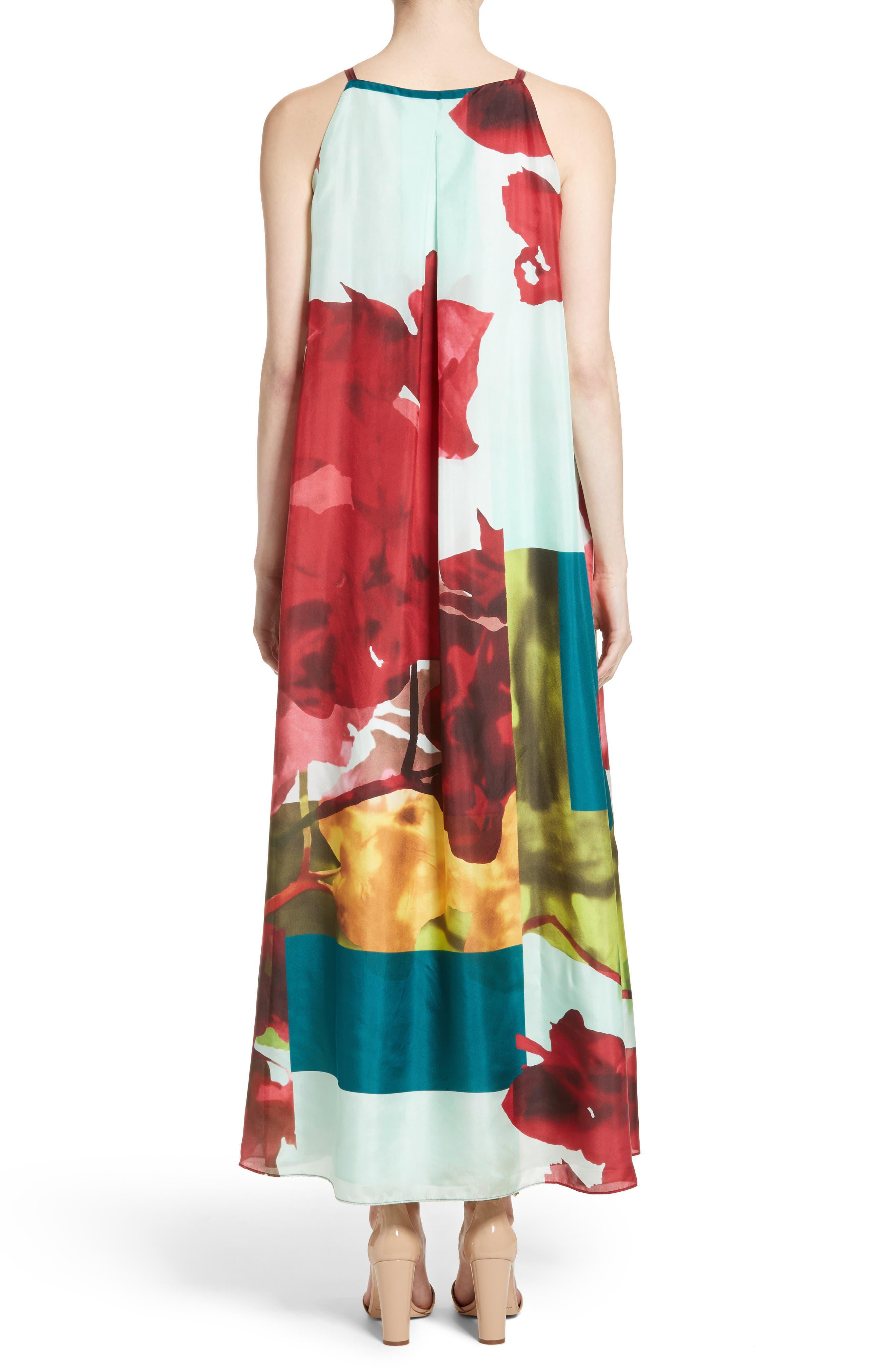 Alternate Image 2  - Lafayette 148 New York Leonissa Print Silk Maxi Dress